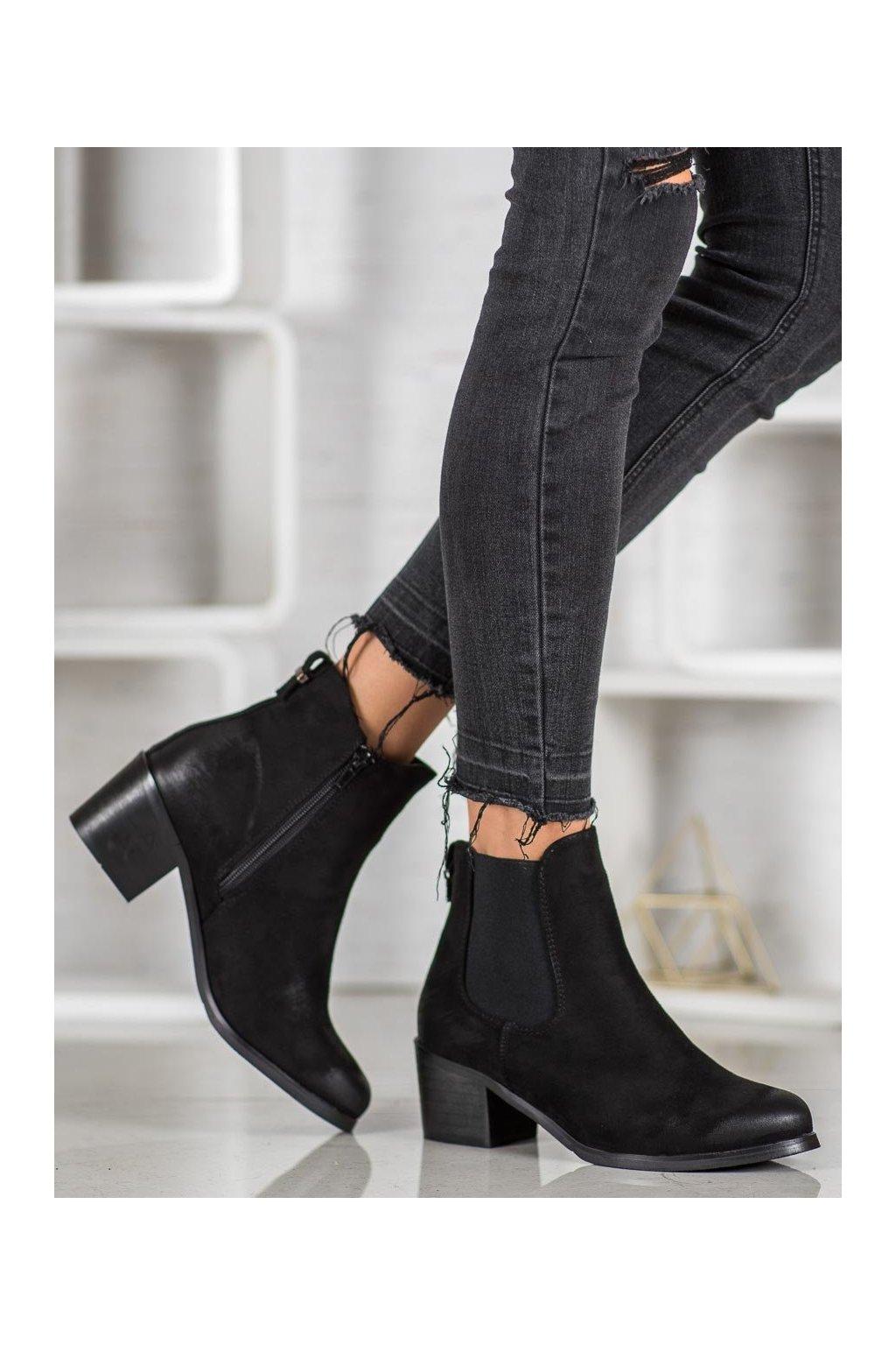 Čierne dámske topánky Goodin kod GD-DS-07A-B