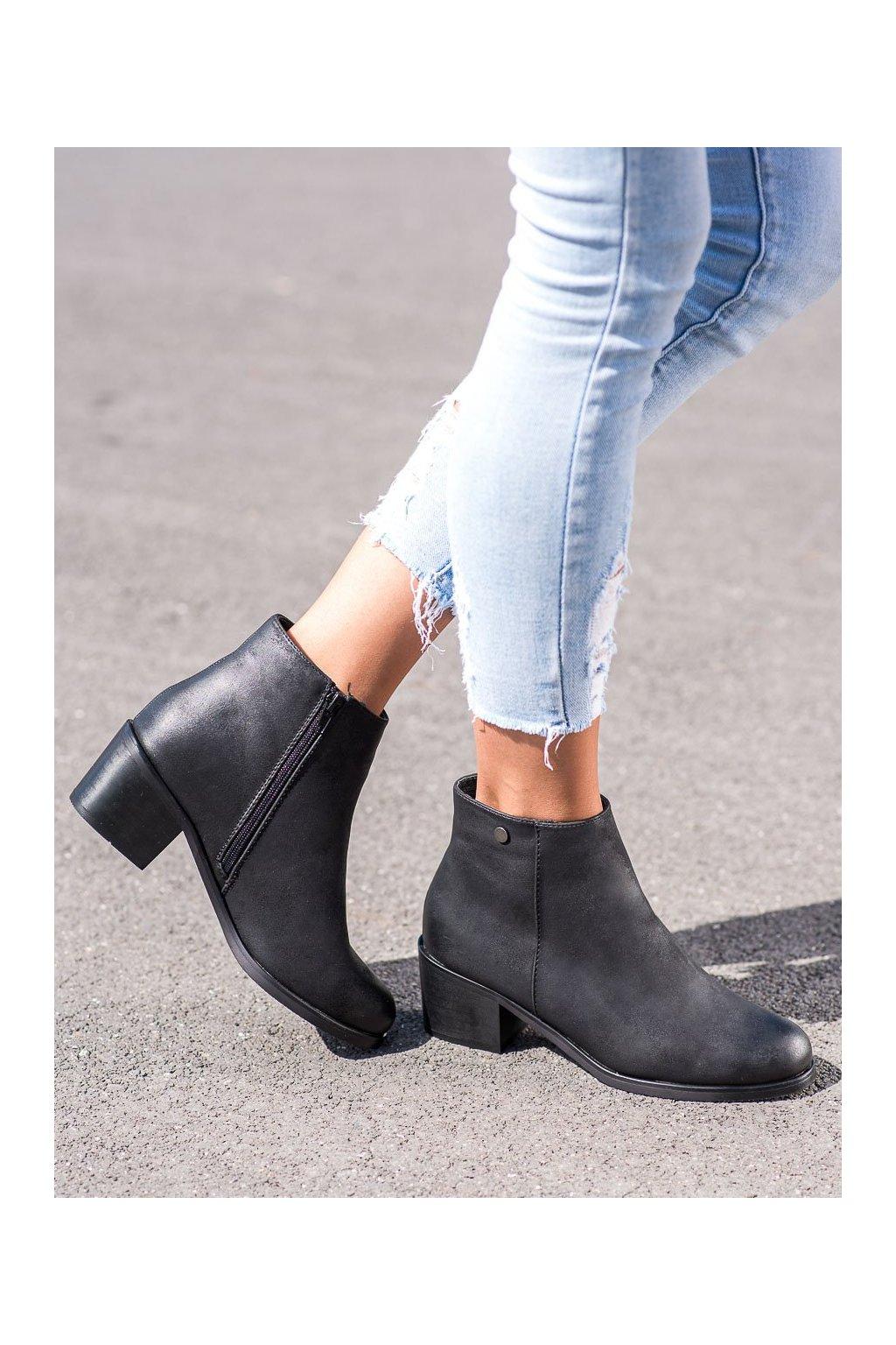 Čierne dámske topánky Goodin kod GD-DS-04B/B