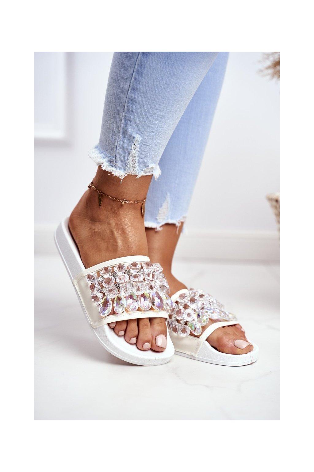 Dámske šľapky farba biela kód obuvi TA2 WHITE