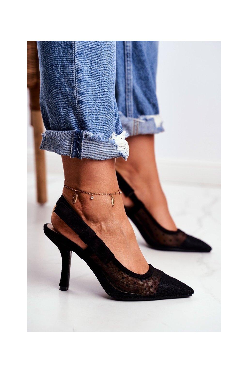 Čierna obuv kód topánok 698-1 BLACK