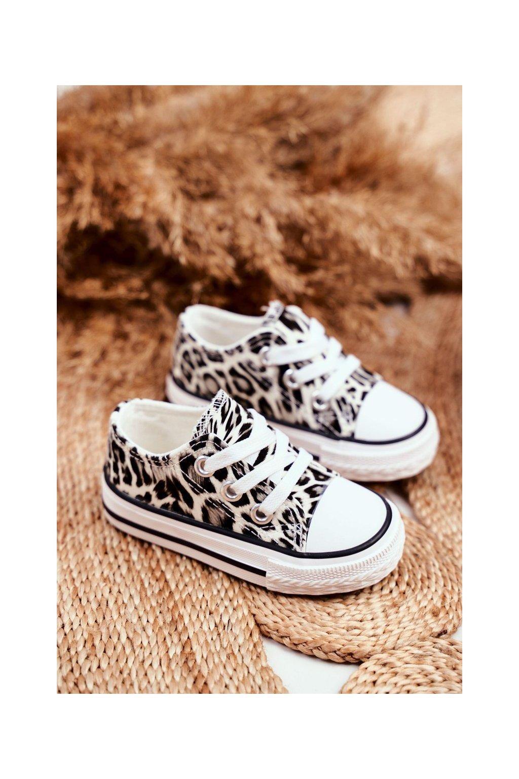 Detské tenisky farba biela kód obuvi 890-C WHITE LEOPARD