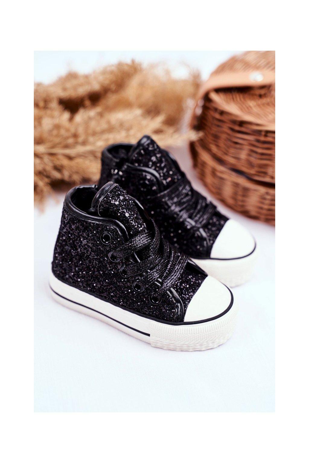 Detské tenisky farba čierna kód obuvi 80092 BLACK