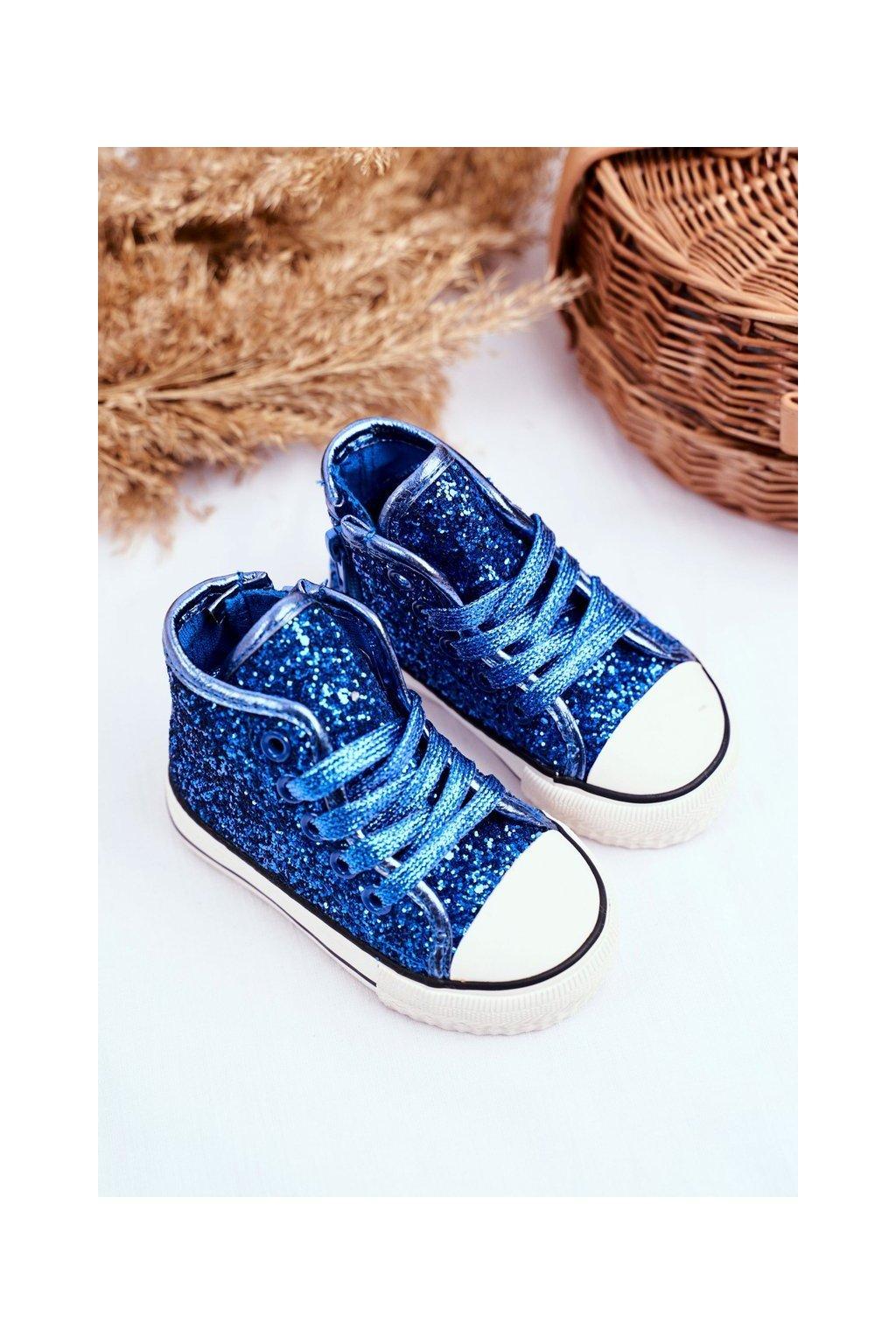 Detské tenisky farba modrá kód obuvi 80092-G BLUE