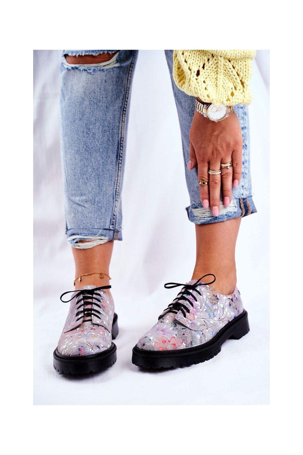 Dámske poltopánky farba sivá kód obuvi 04087-13/00-5 POPIEL KW.