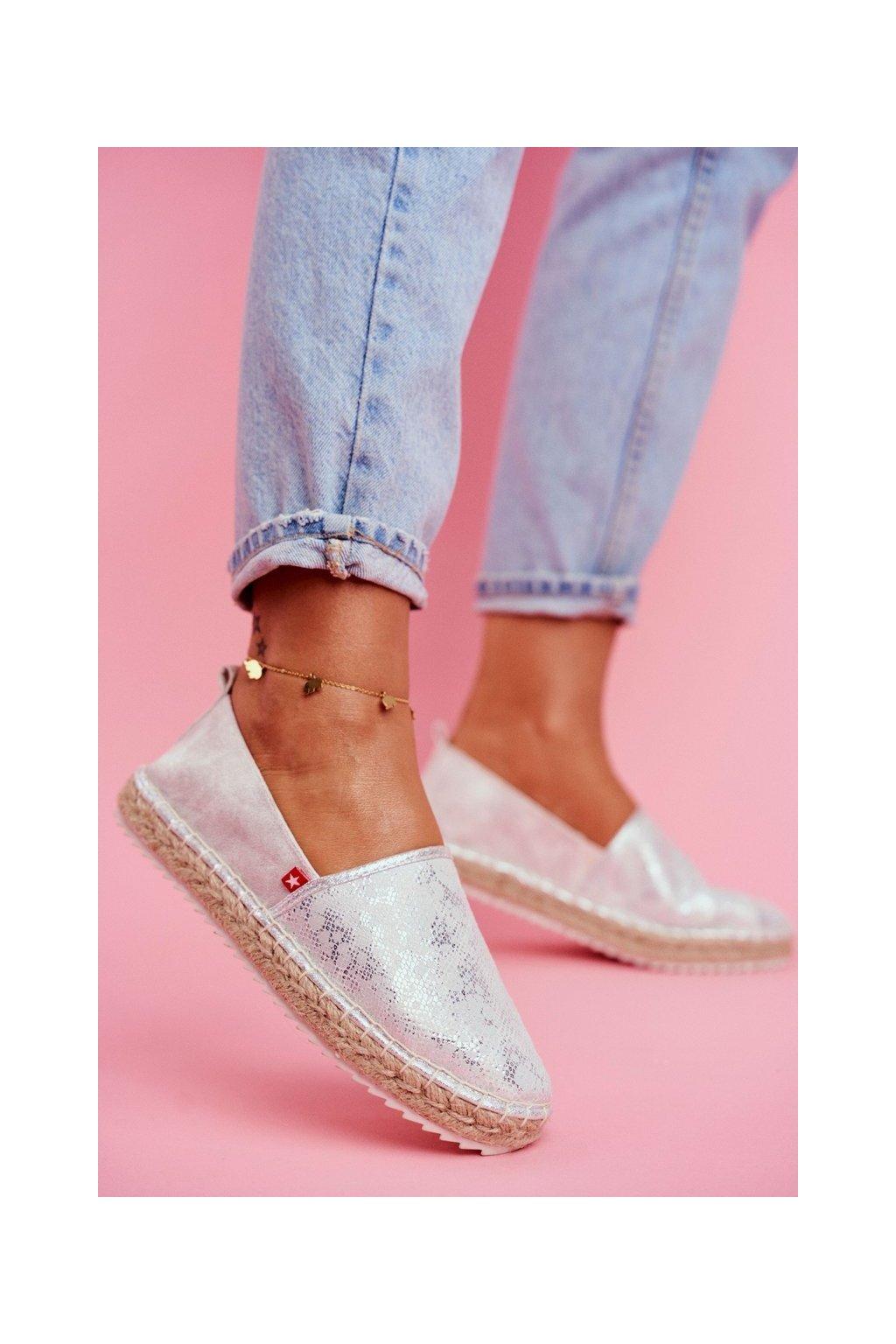 Dámske espadrilky farba sivá kód obuvi FF274A514 SILVER