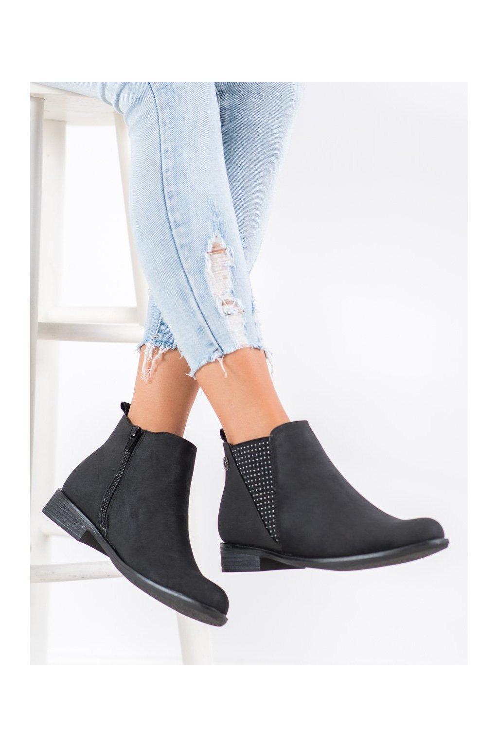 Čierne dámske topánky Goodin kod GD-BM-113A-B