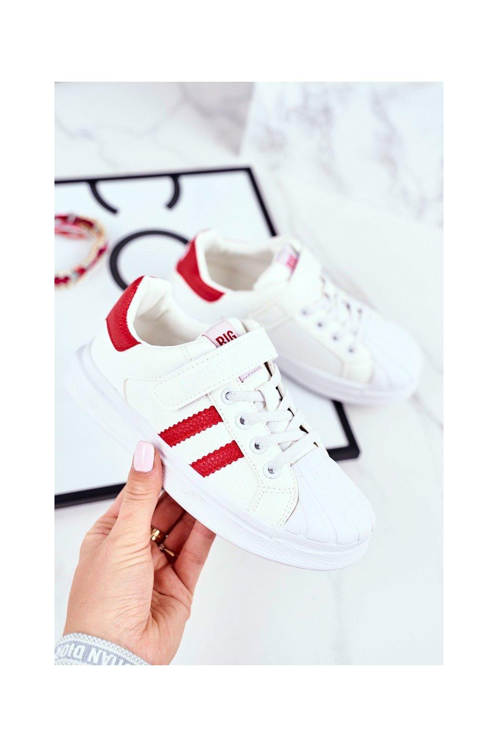 Detské tenisky farba biela kód obuvi GG374020 WHI/RED