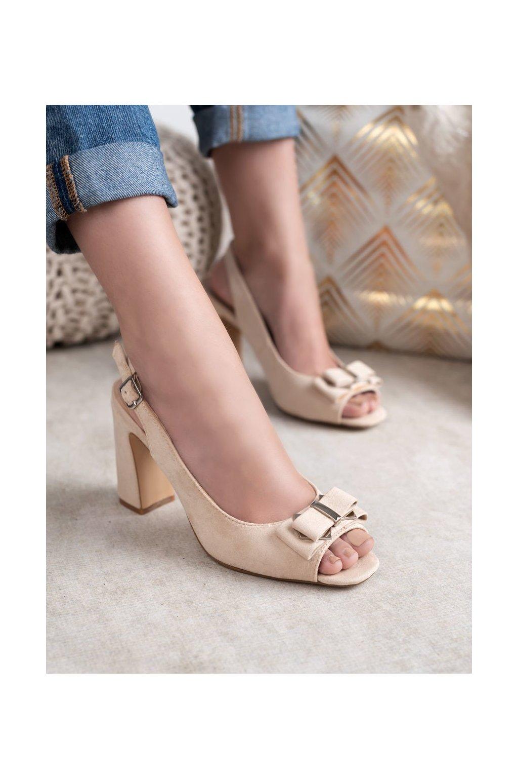 Hnedé topánky Shelovet kod  NJSK YQE19-17006BE