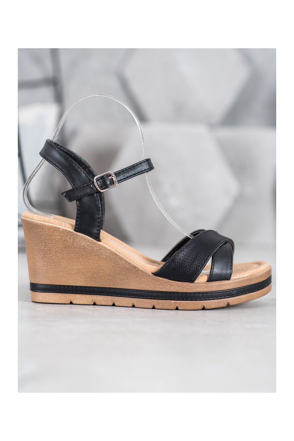 Čierne sandále Sea elves NJSK 6437B