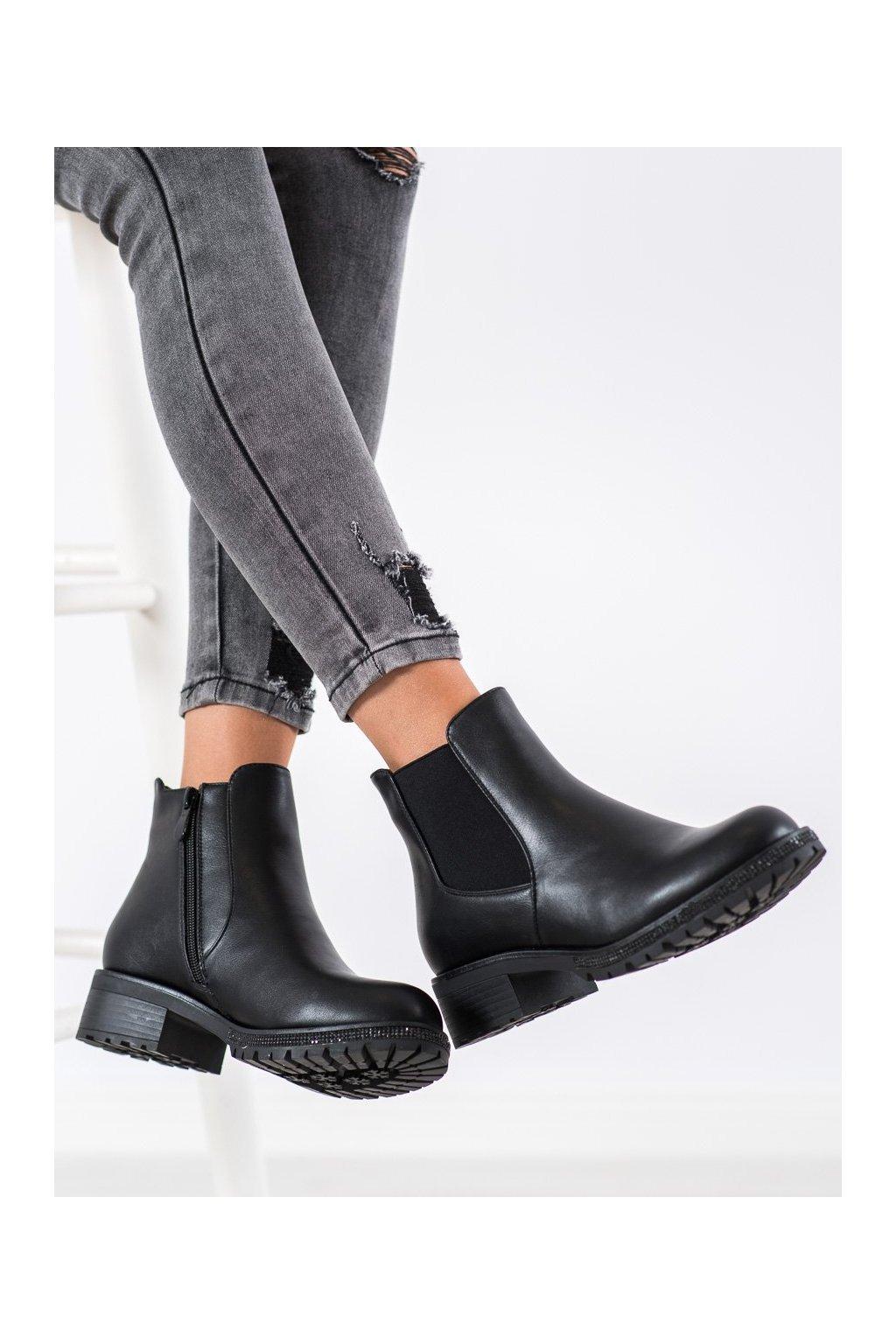 Čierne dámske topánky Shelovet kod 7-X8208B
