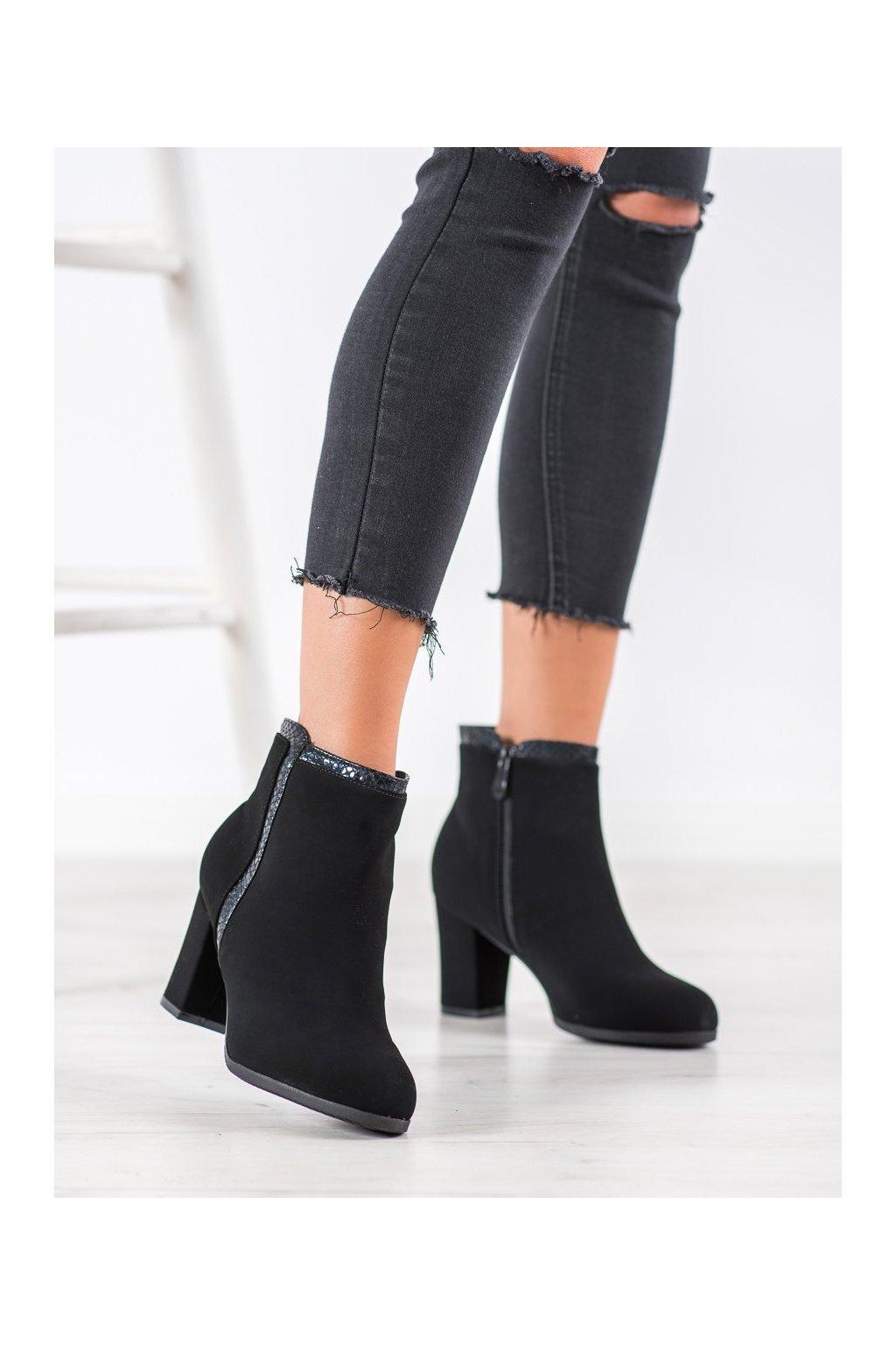 Čierne dámske topánky Weide kod Q325B
