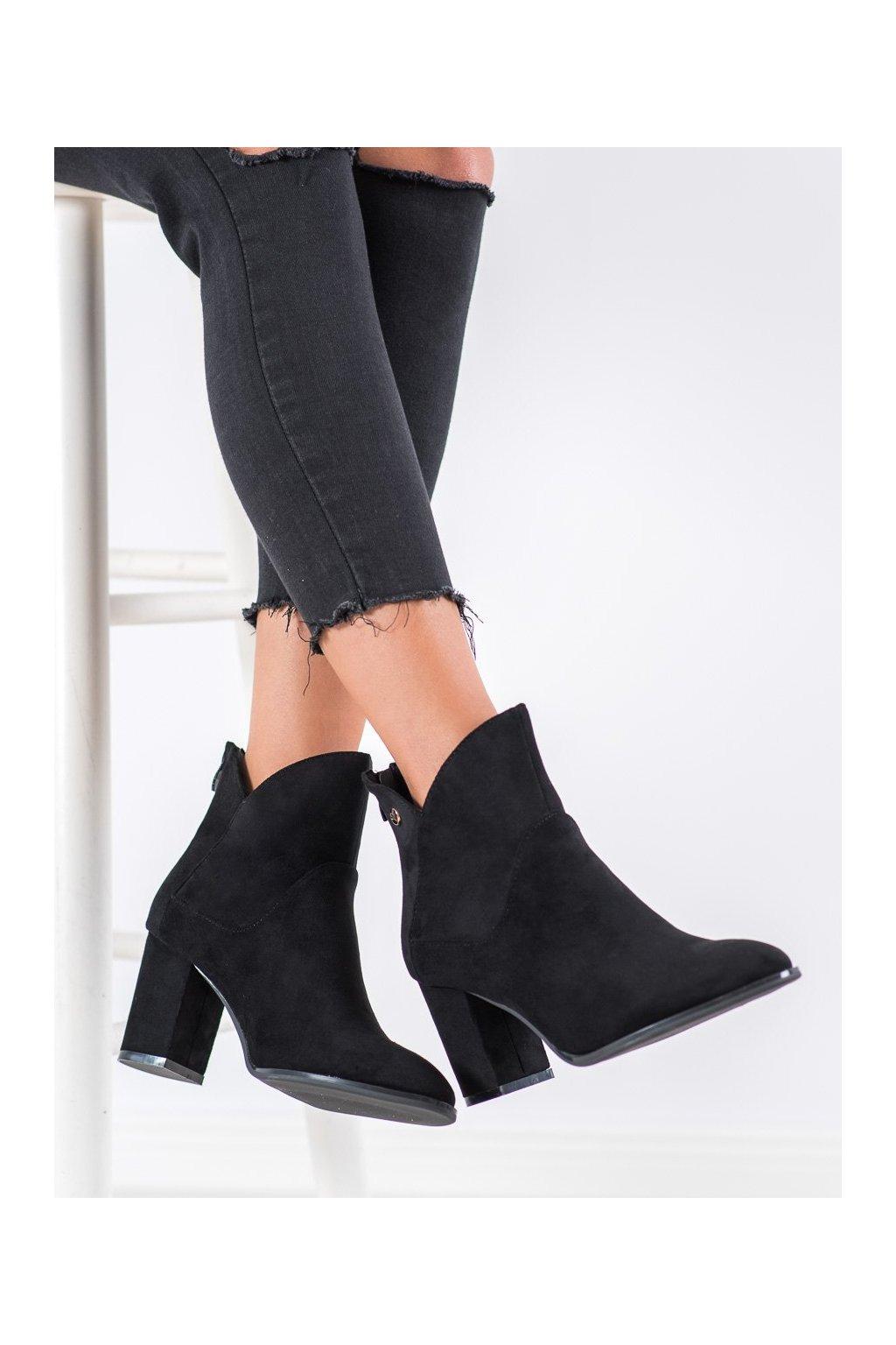 Čierne dámske topánky Shelovet kod BT525B