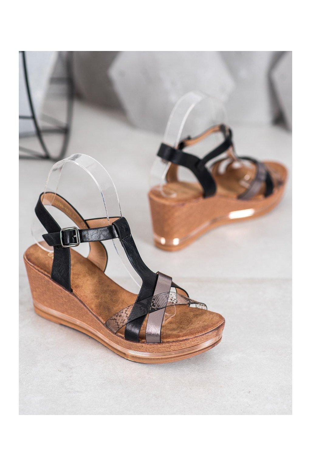 Čierne sandále Evento NJSK 20SD98-1620B