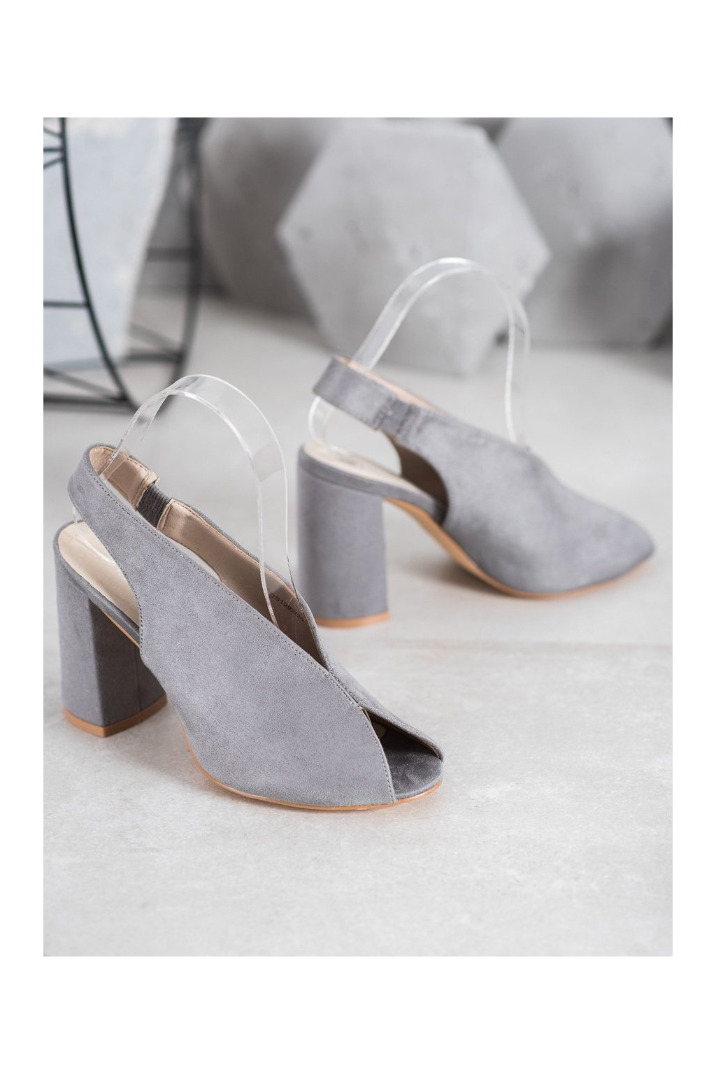 Sivé sandále Filippo NJSK DS1292/20G