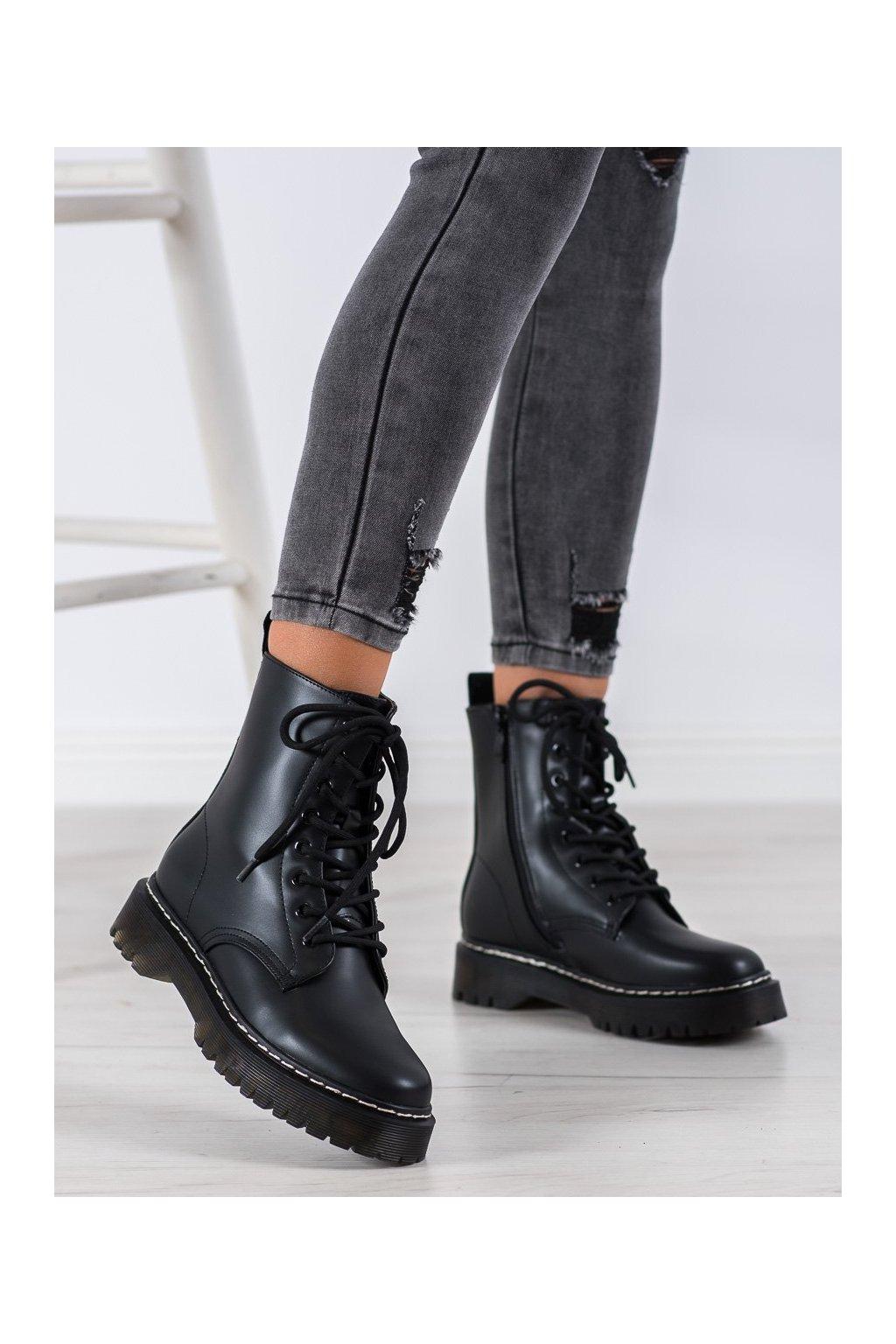 Čierne dámske topánky Shelovet kod 7-X8236B