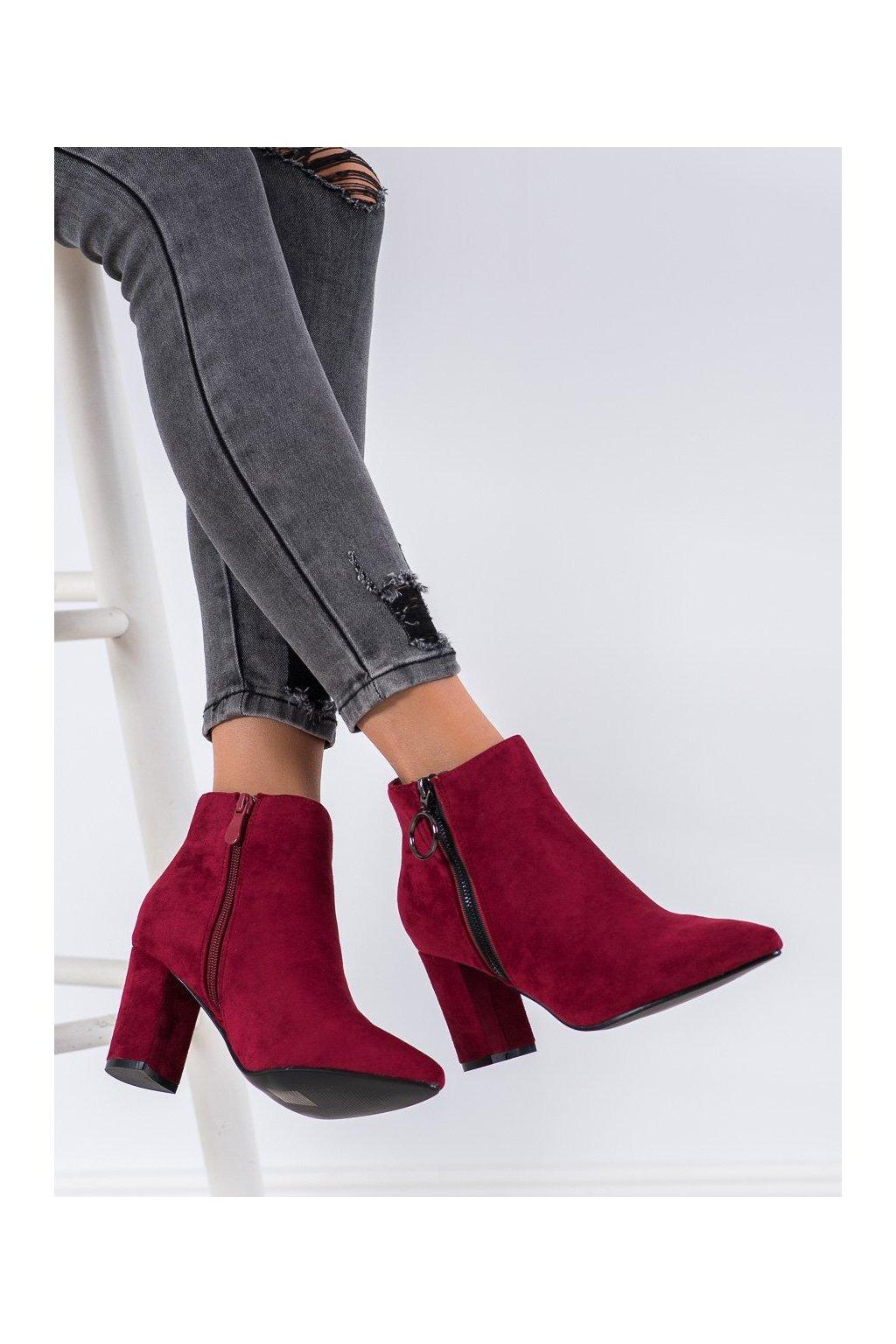 Červené dámske topánky Small swan kod OM279MAR