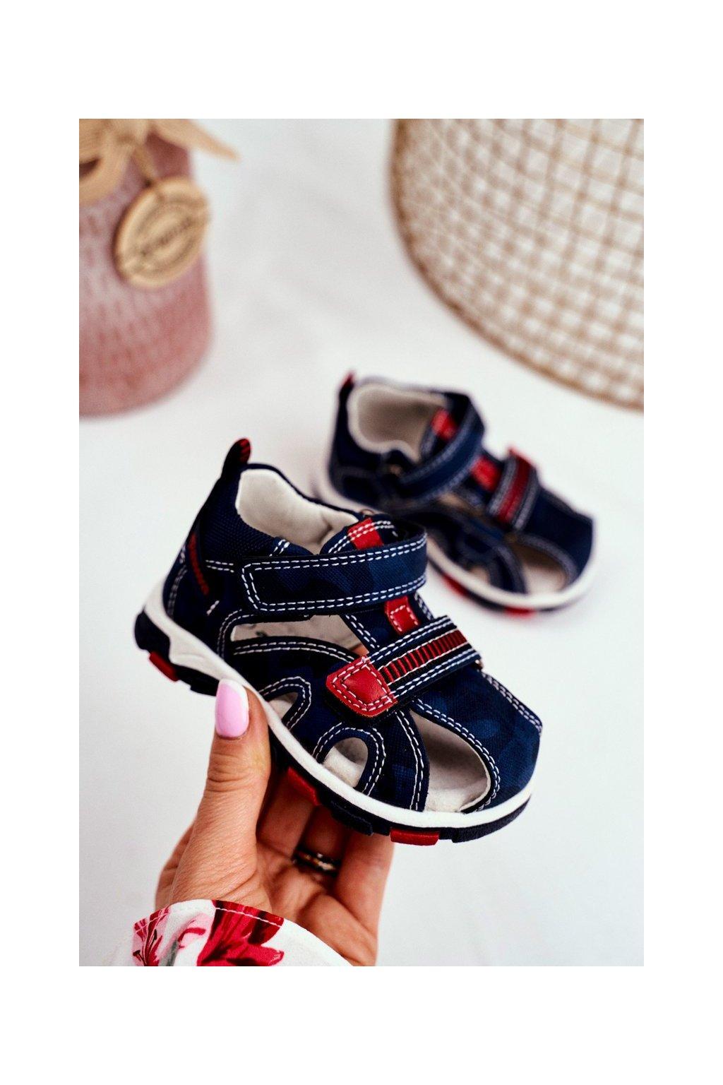 Detské Sandále se suchým zipem tmavo modre Goreno NJSK JX18