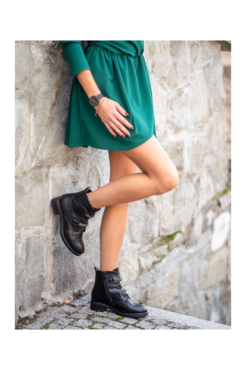 Čierne dámske topánky Sergio leone kod BT526B