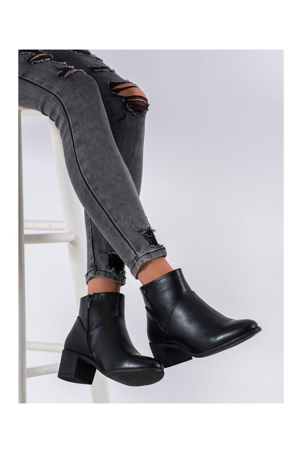 Čierne dámske topánky Sergio leone kod BT507B