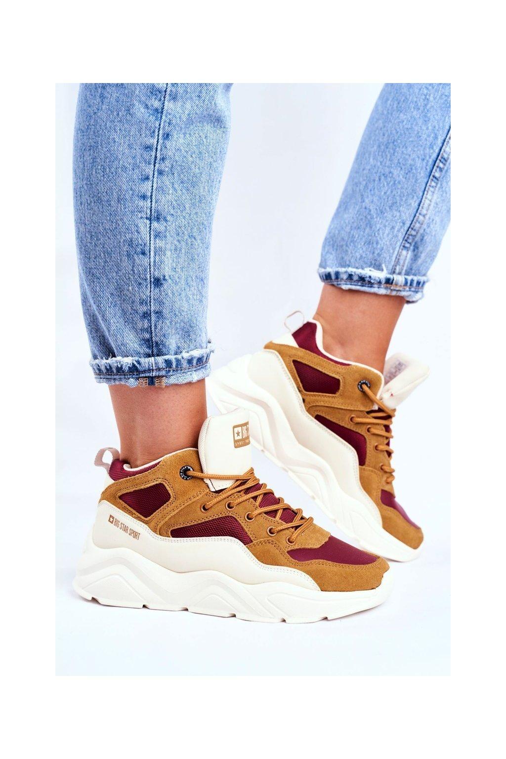 Dámske tenisky farba hnedá kód obuvi GG274646 BEIGE