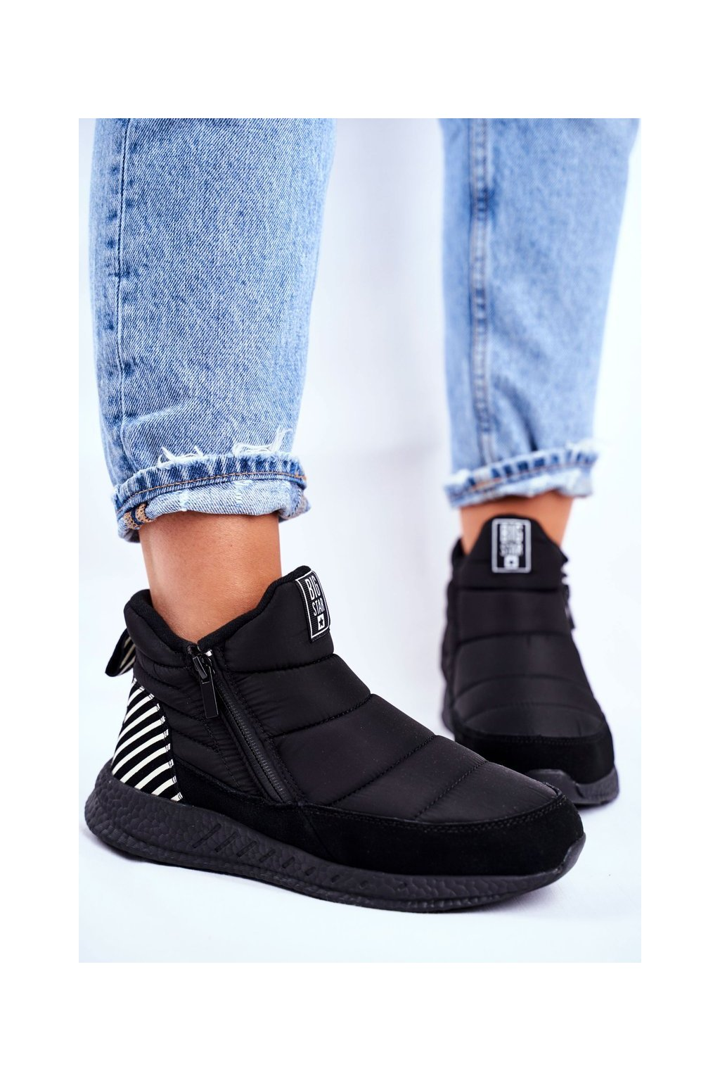 Dámske snehule farba čierna kód obuvi GG274470 BLK