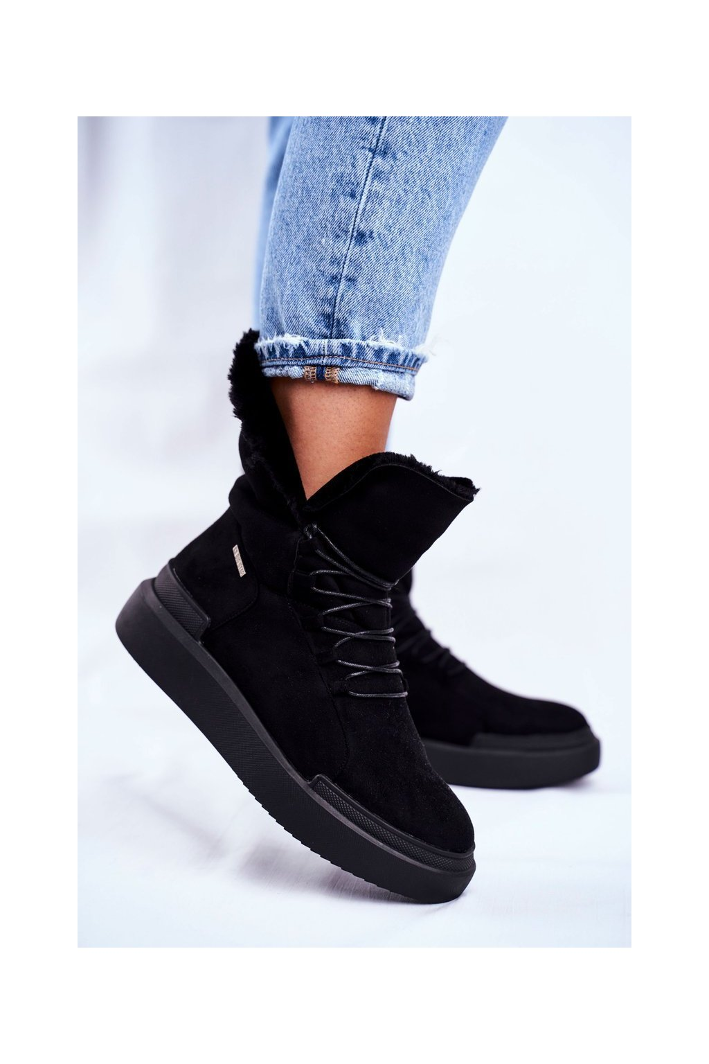 Dámske snehule farba čierna kód obuvi GG274990 BLK