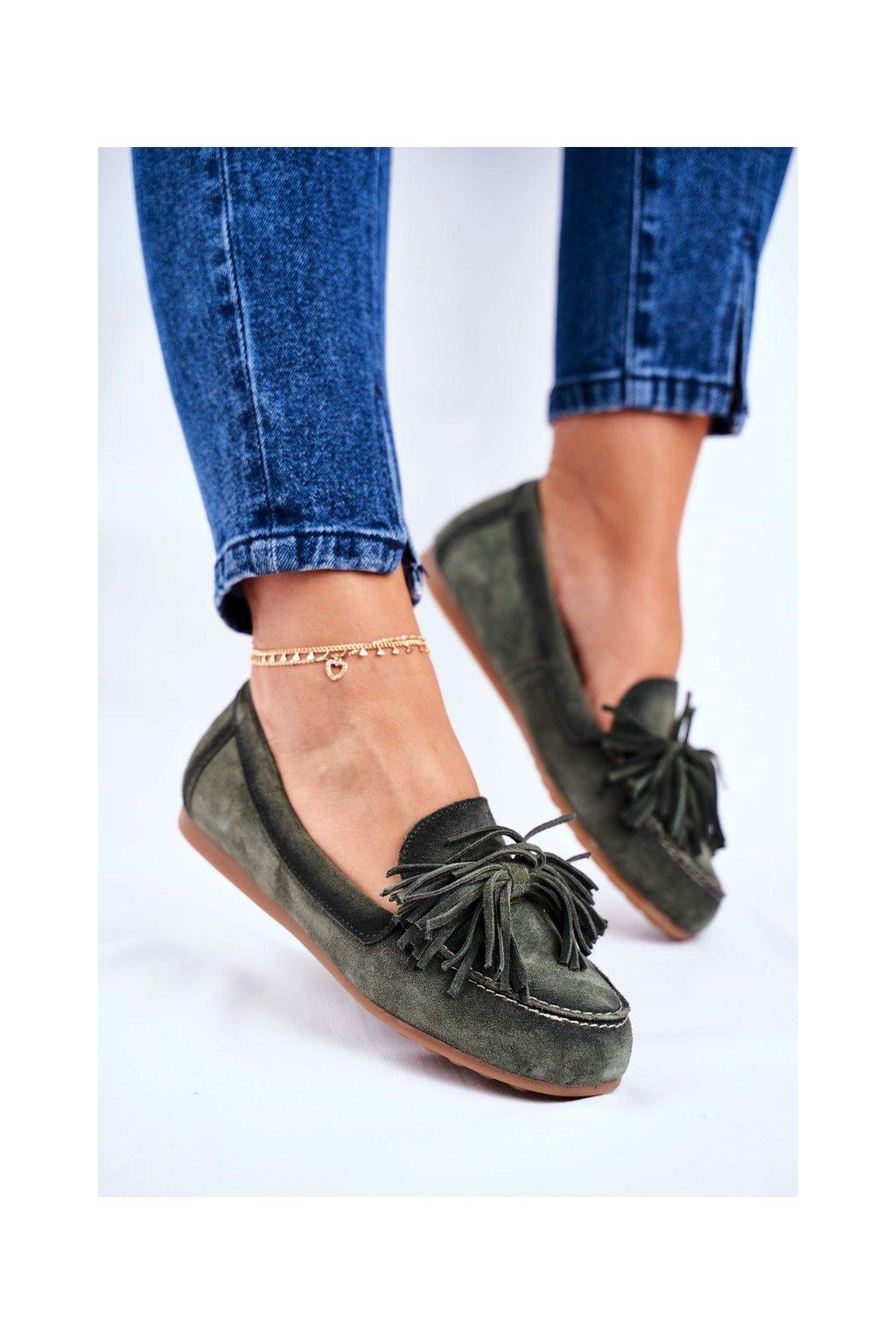 Dámske mokasíny farba zelená kód obuvi 04830-24/00-5 OLIVE