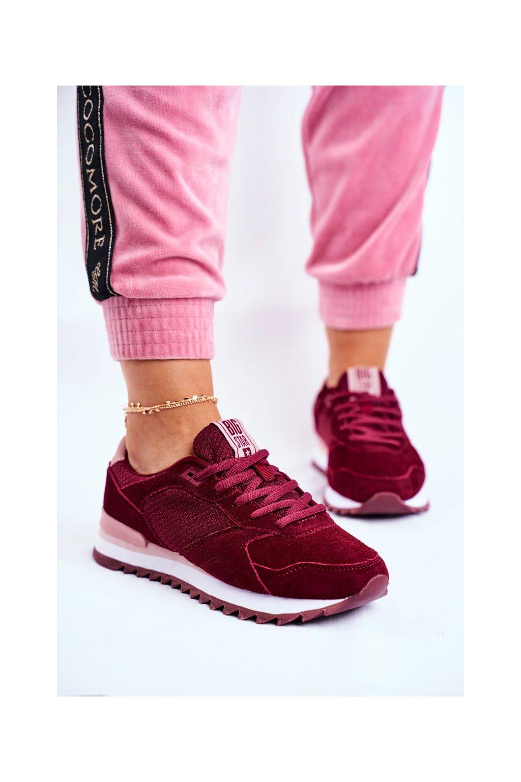 Dámske tenisky farba červená kód obuvi GG274522 MAROON