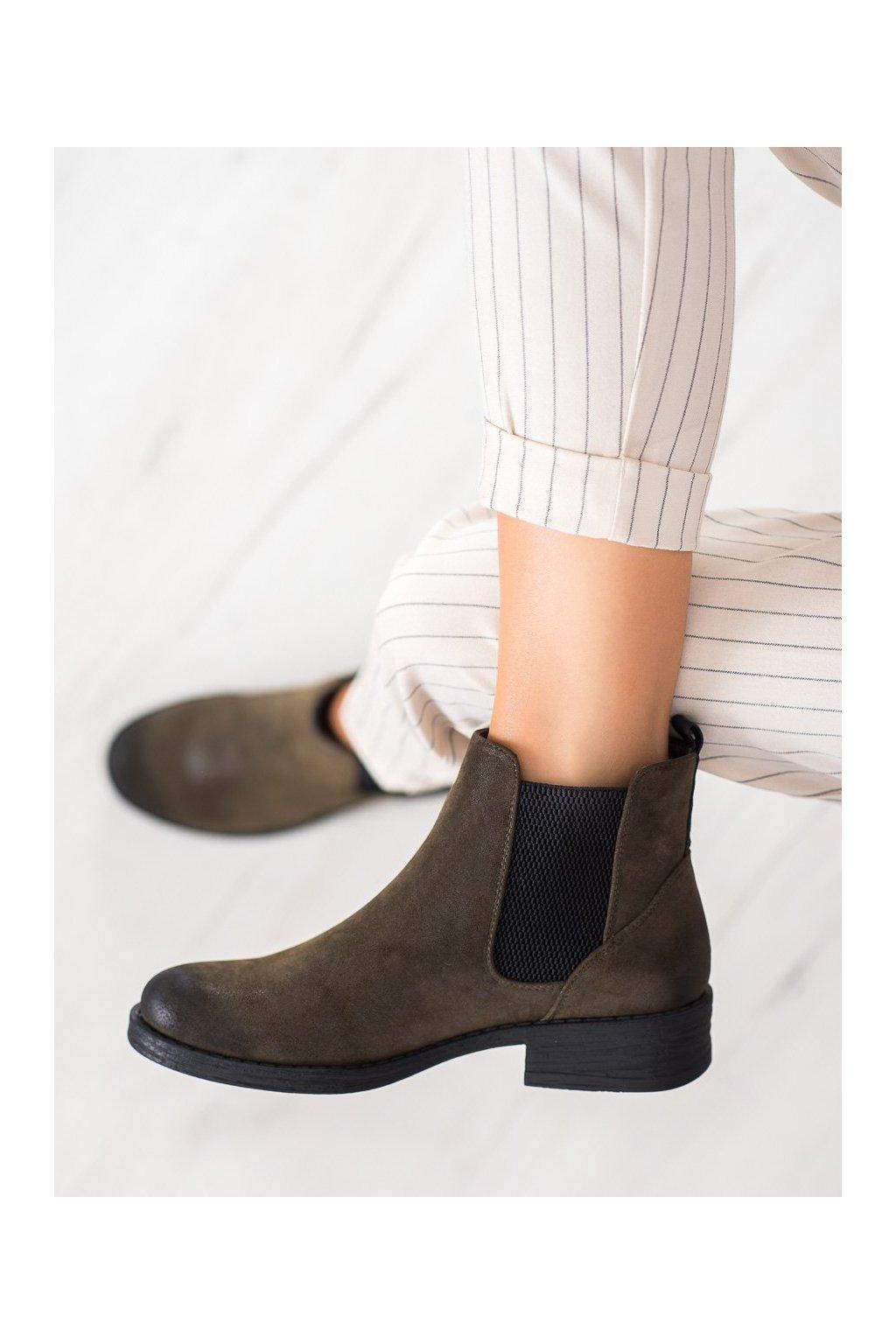 Zelené dámske topánky Sergio leone kod BT552OL