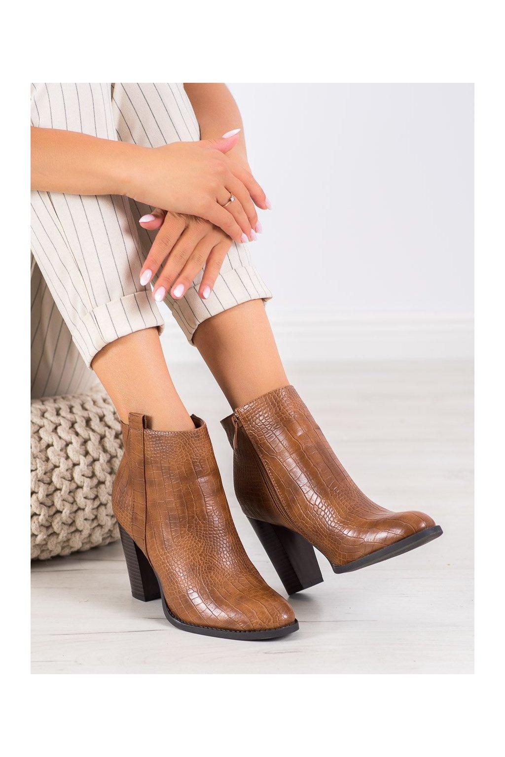 Hnedé dámske topánky Seastar kod UK10C
