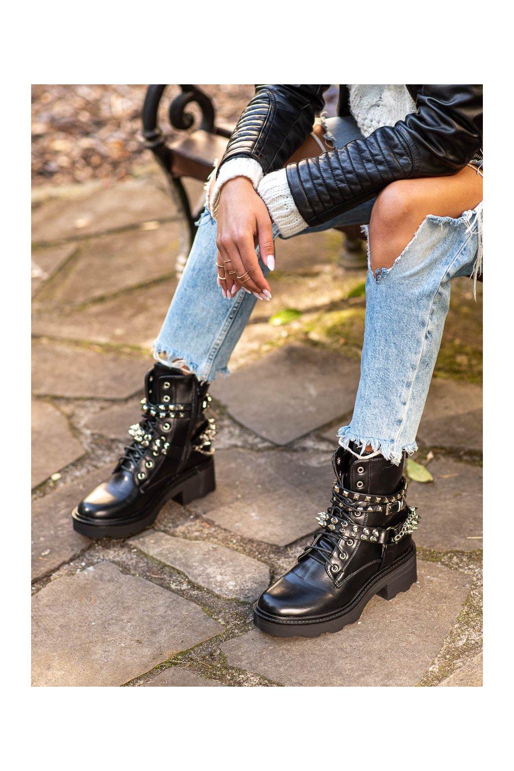 Čierne dámske topánky Seastar kod NC1028B