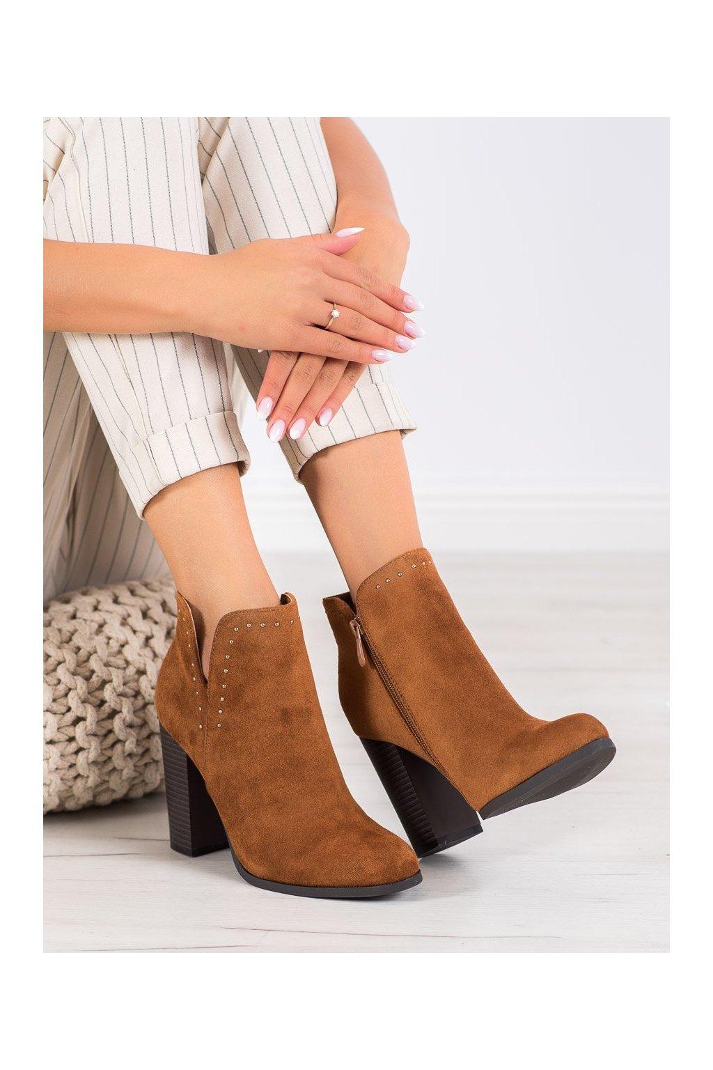 Hnedé dámske topánky Seastar kod UK11C