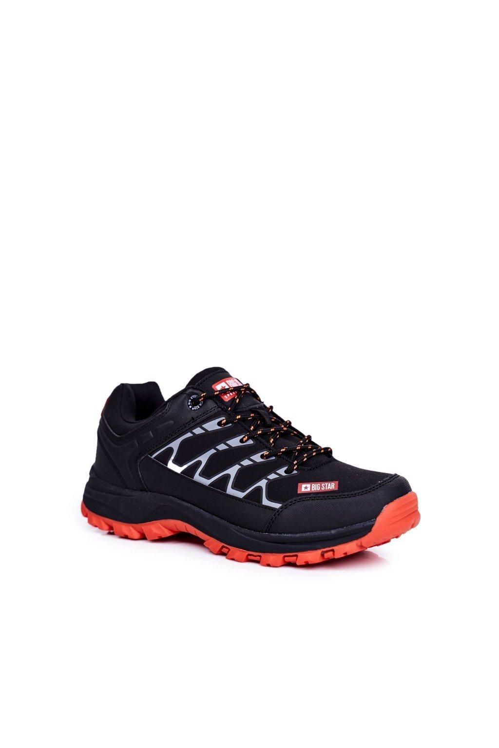 Pánske trekingové topánky farba čierna kód obuvi GG174560 BLK