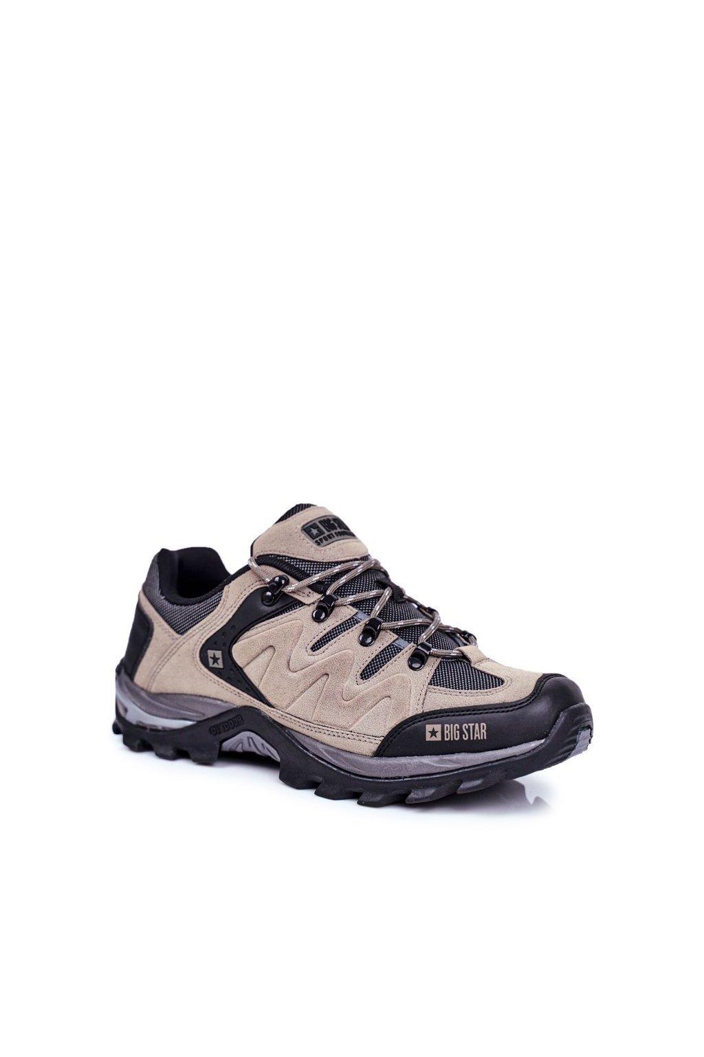 Pánske trekingové topánky farba sivá kód obuvi GG174281 GREY