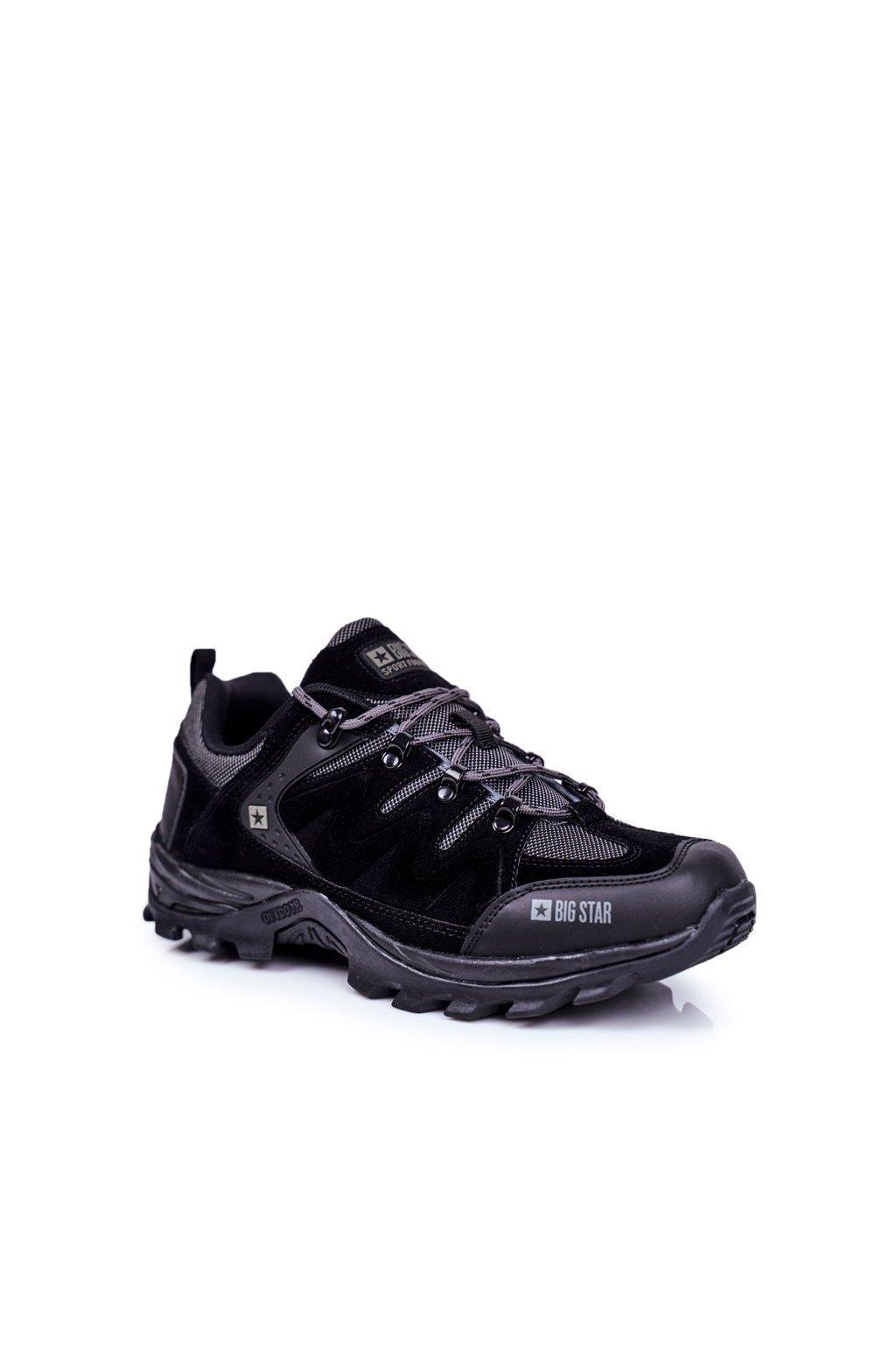 Pánske trekingové topánky farba čierna kód obuvi GG174282 BLK