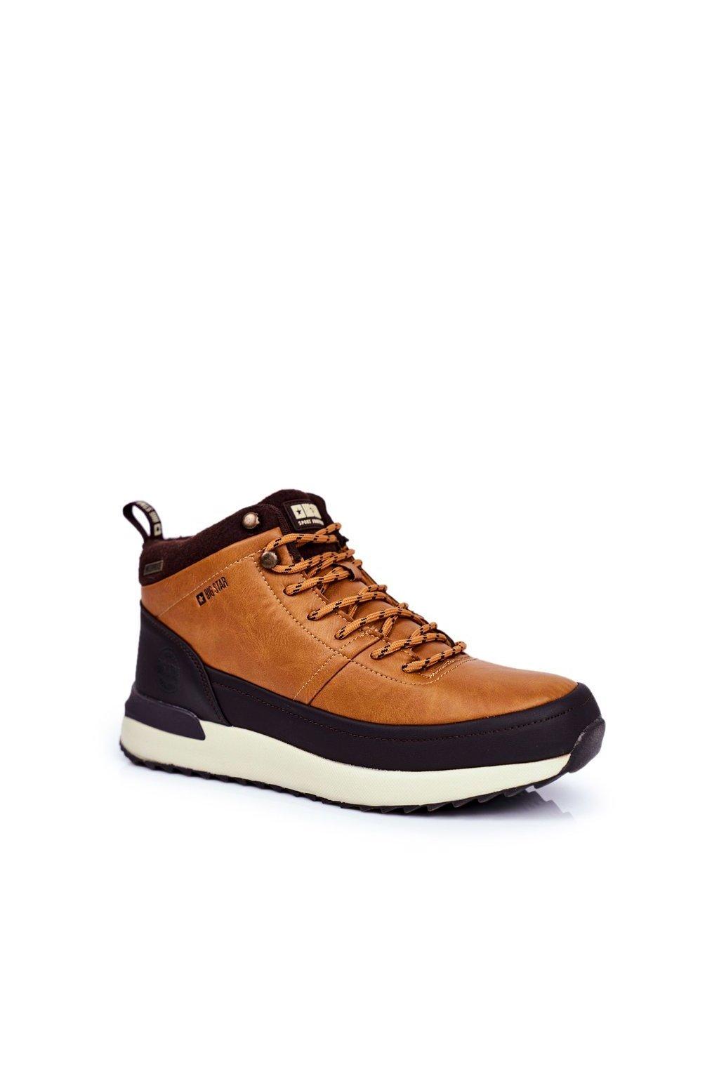 Pánske trekingové topánky farba hnedá kód obuvi GG174561 CAMEL