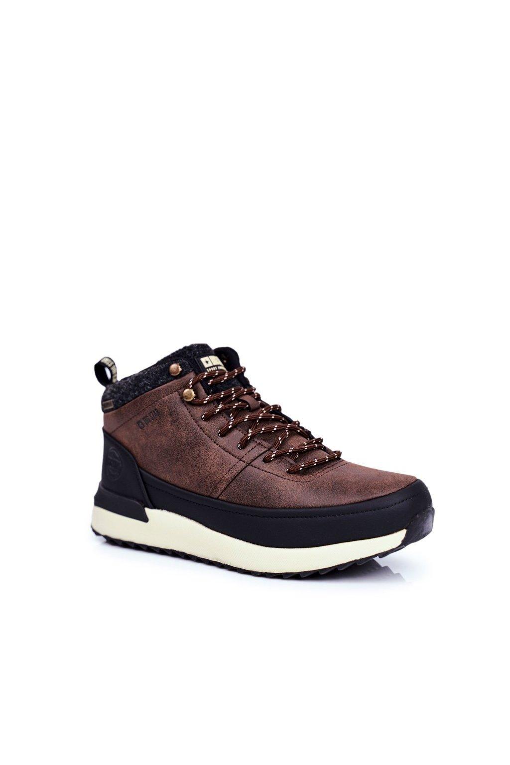 Pánske trekingové topánky farba hnedá kód obuvi GG174562 BROWN
