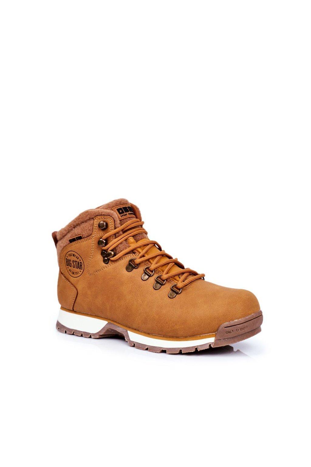 Pánske trekingové topánky farba hnedá kód obuvi GG174402 CAMEL