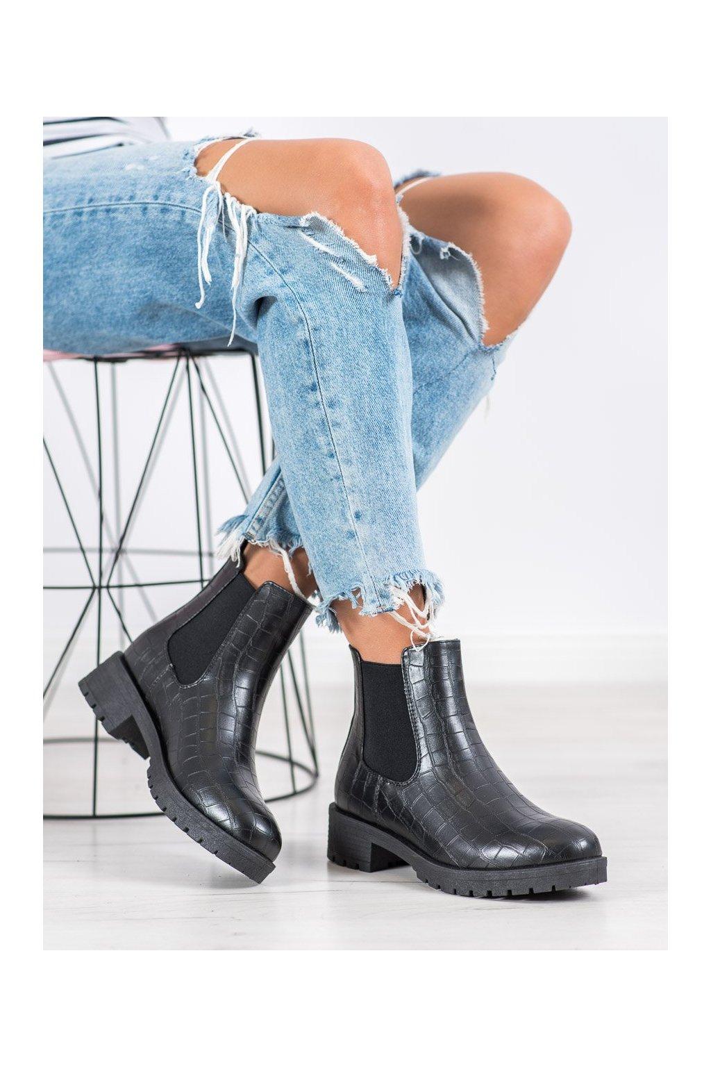 Čierne dámske topánky Bella paris kod BK906B