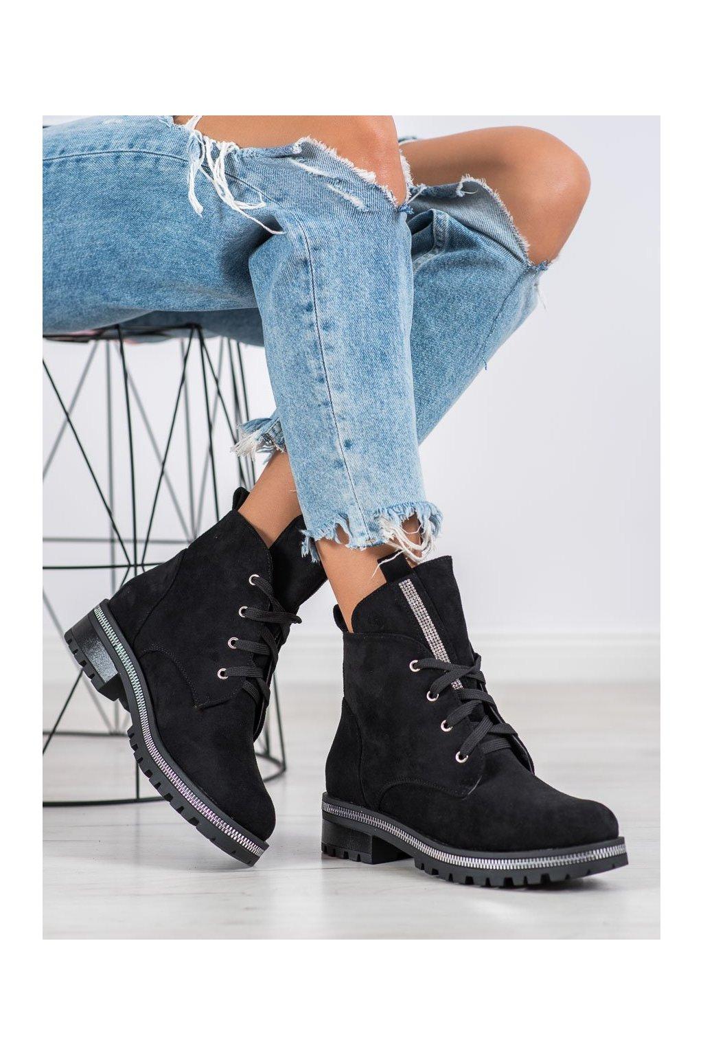 Čierne dámske topánky Seastar kod NC1035B