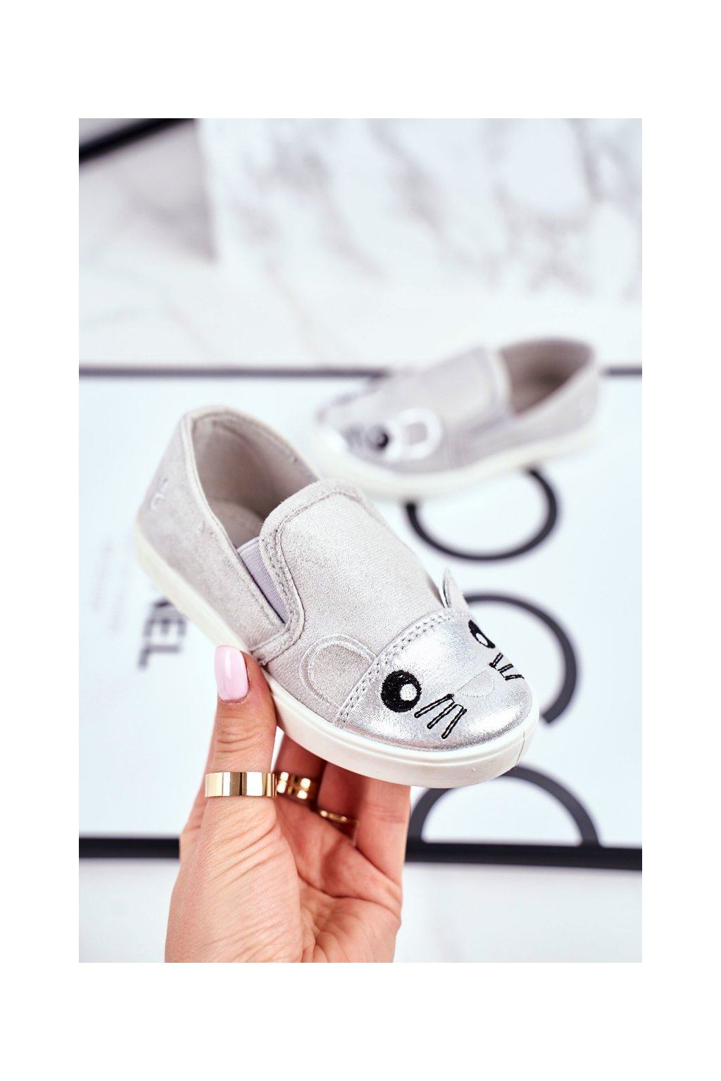 Sivá obuv kód topánok G1209LD-1 SILVER/L.GREY