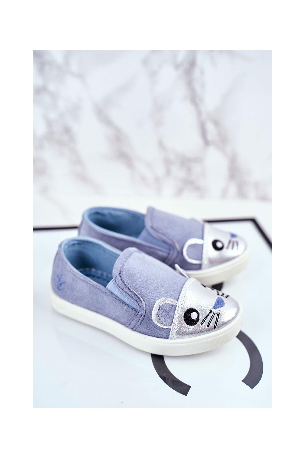 Detské tenisky farba modrá kód obuvi G1209LD-2 SILVER/BLUE