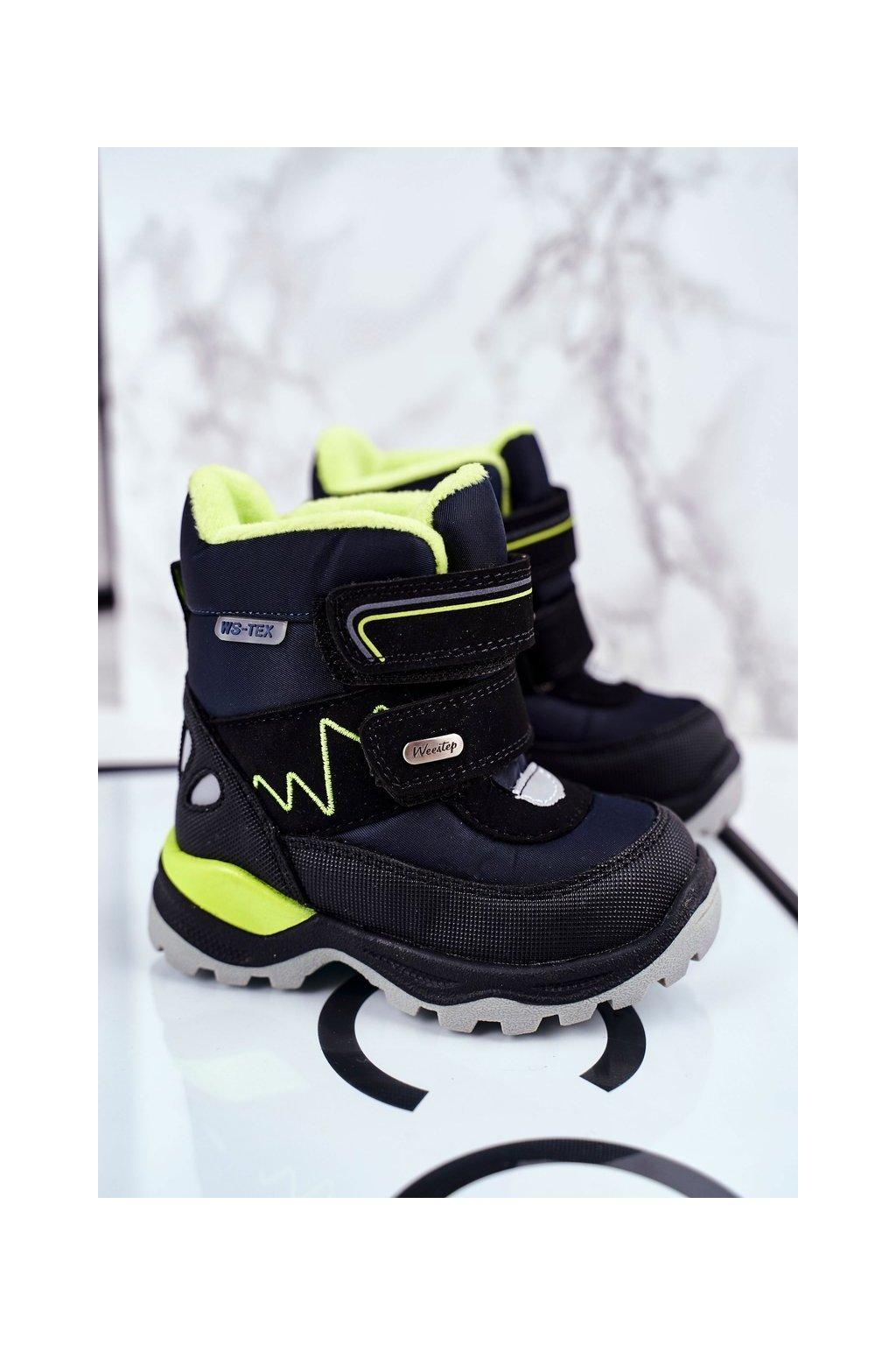 Detské členkové topánky farba modrá kód obuvi R817837223 D.BLUE