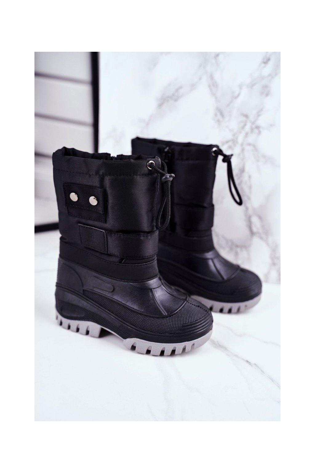 Detské členkové topánky farba čierna kód obuvi D100 BLK