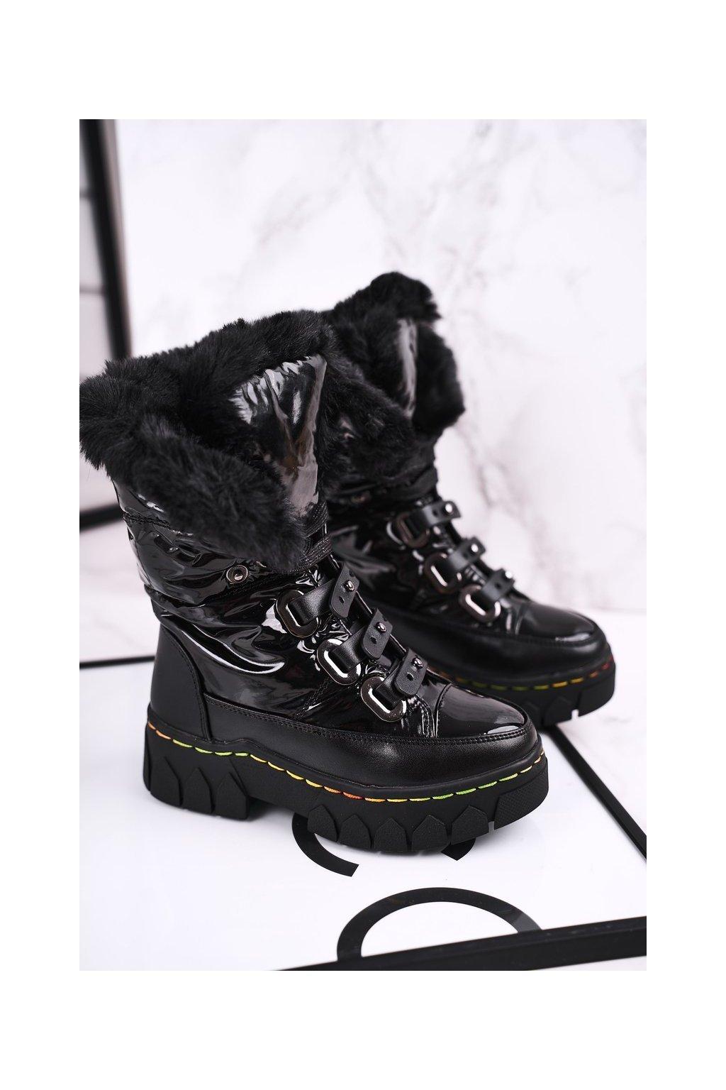 Detské členkové topánky farba čierna kód obuvi DD51 BLK