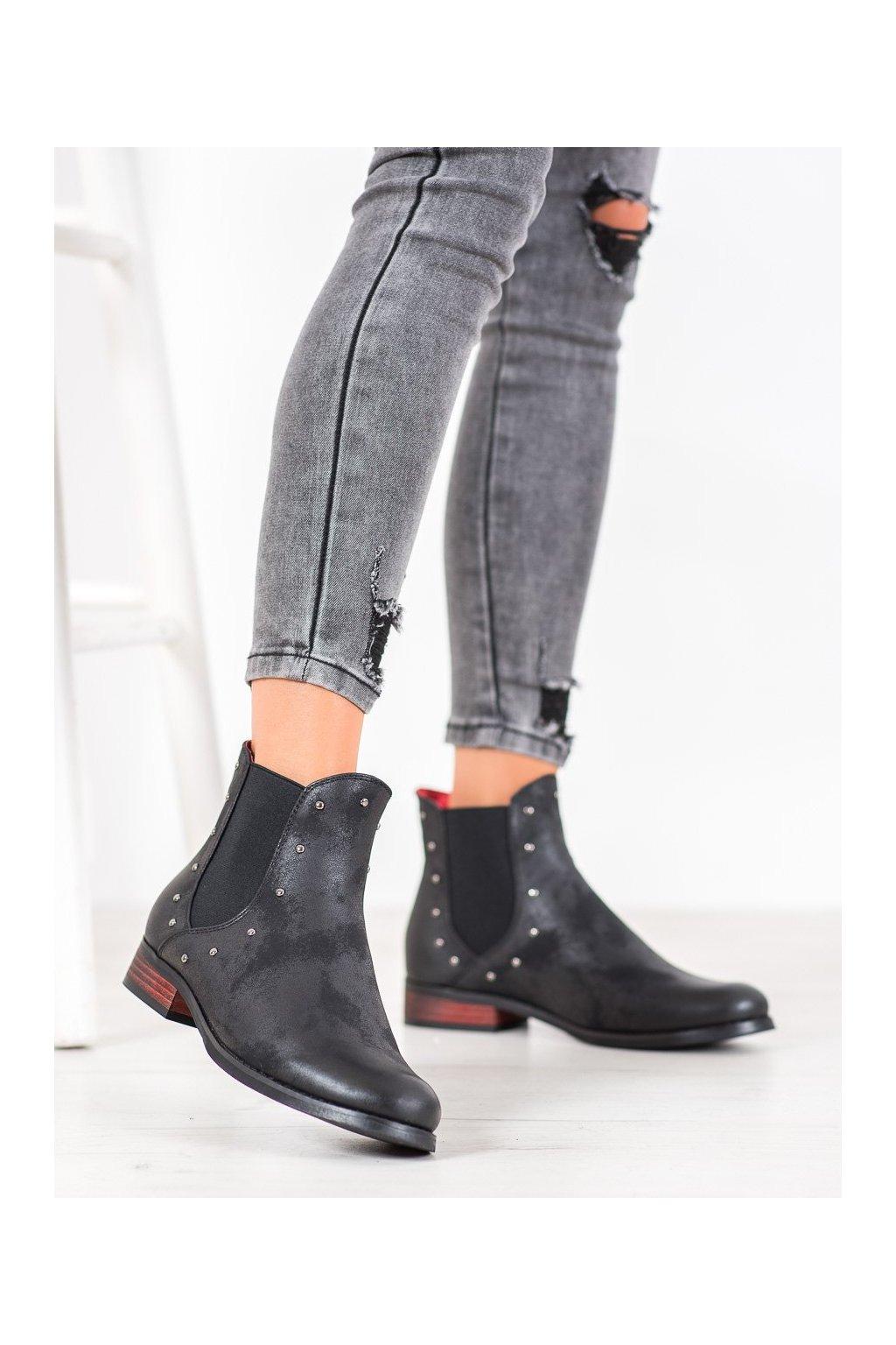 Čierne dámske topánky Goodin NJSK GD-DS-02B