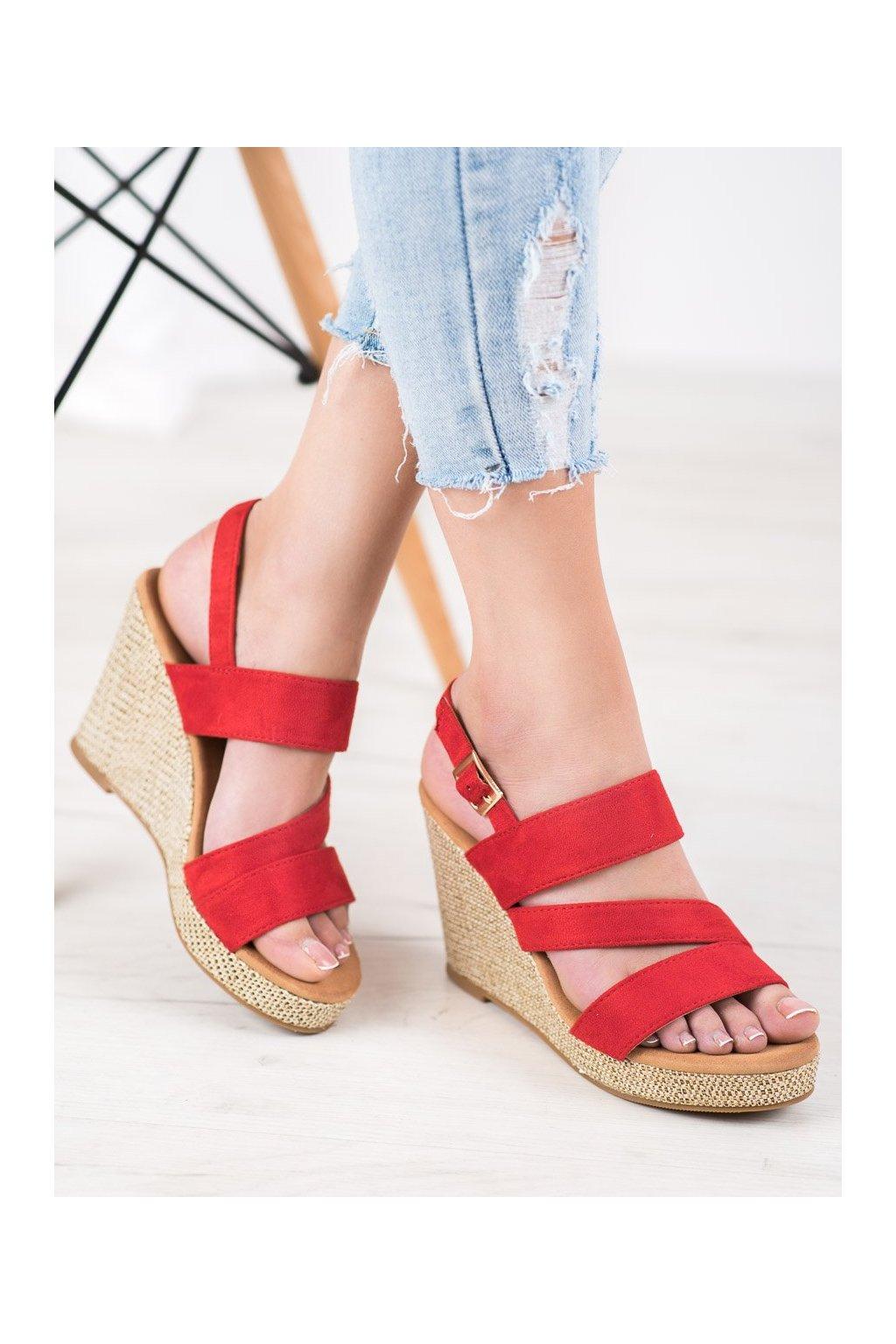 Červené sandále Small swan NJSK BL-21R