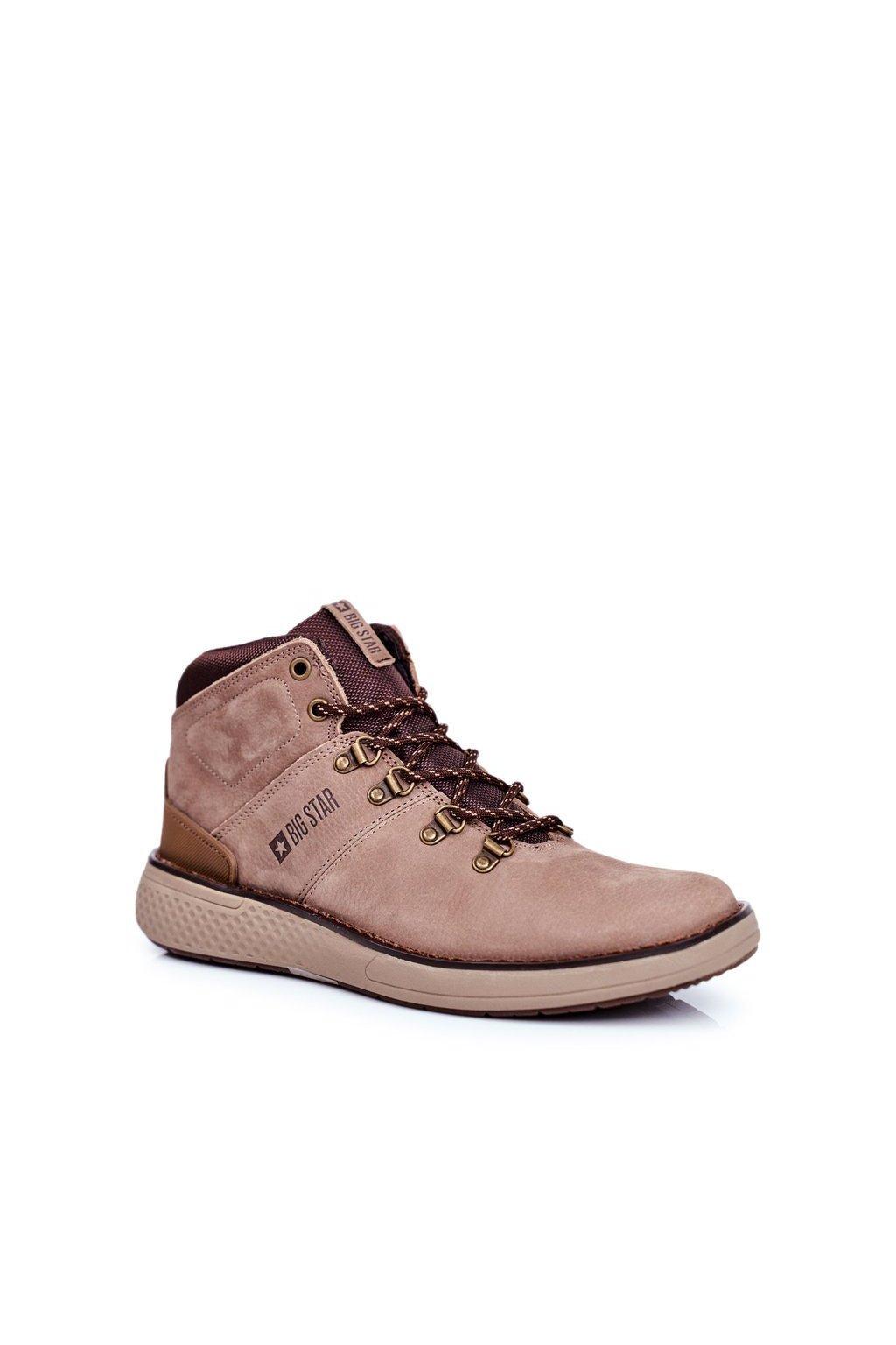 Pánske topánky na zimu farba hnedá kód obuvi GG174492 BROWN
