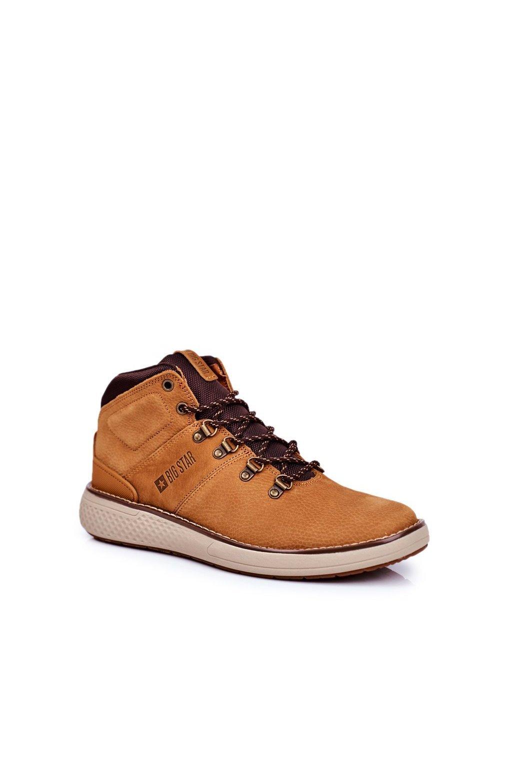 Pánske topánky na zimu farba hnedá kód obuvi GG174491 LT.BROWN