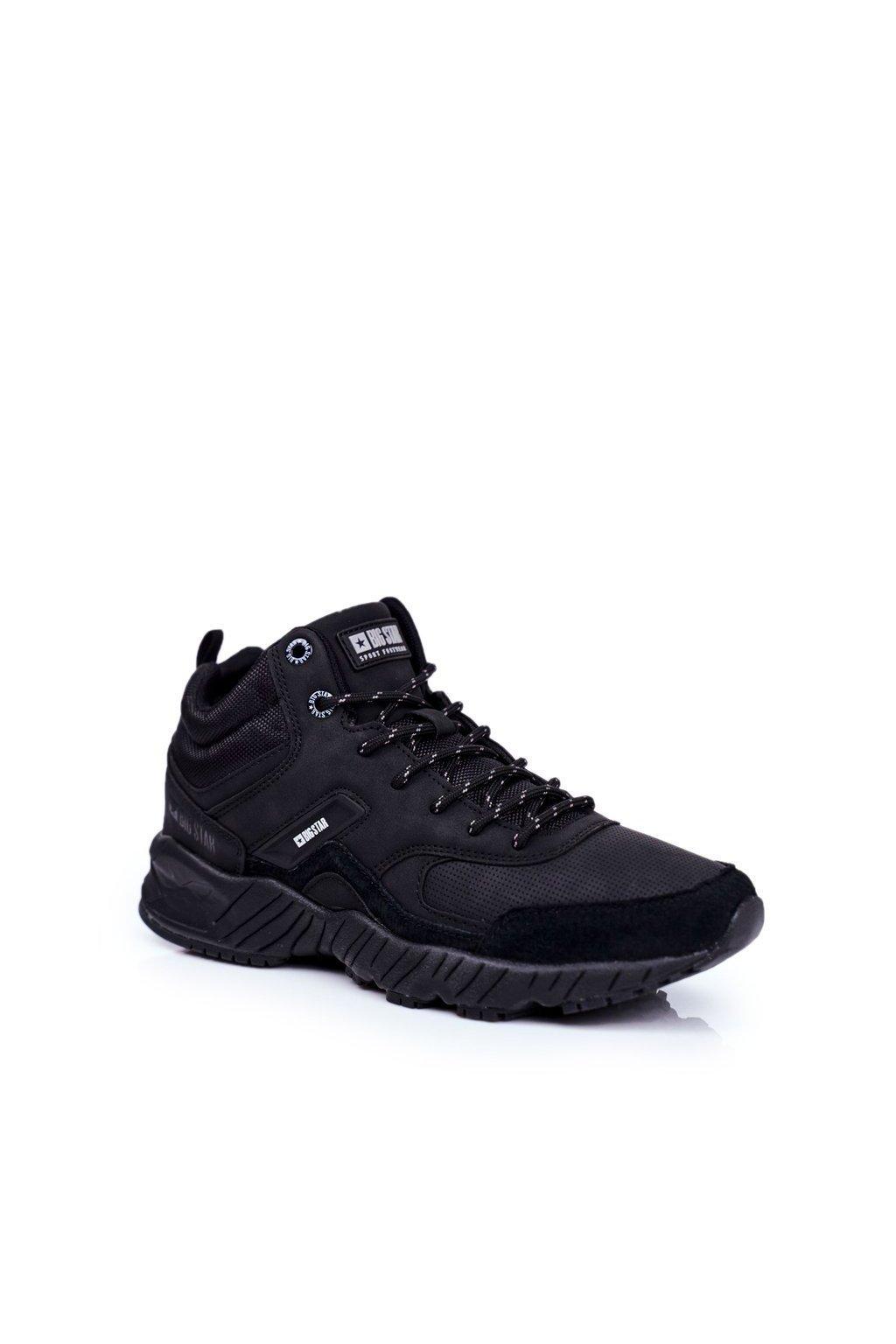 Pánske trekingové topánky farba čierna kód obuvi GG174409 BLK